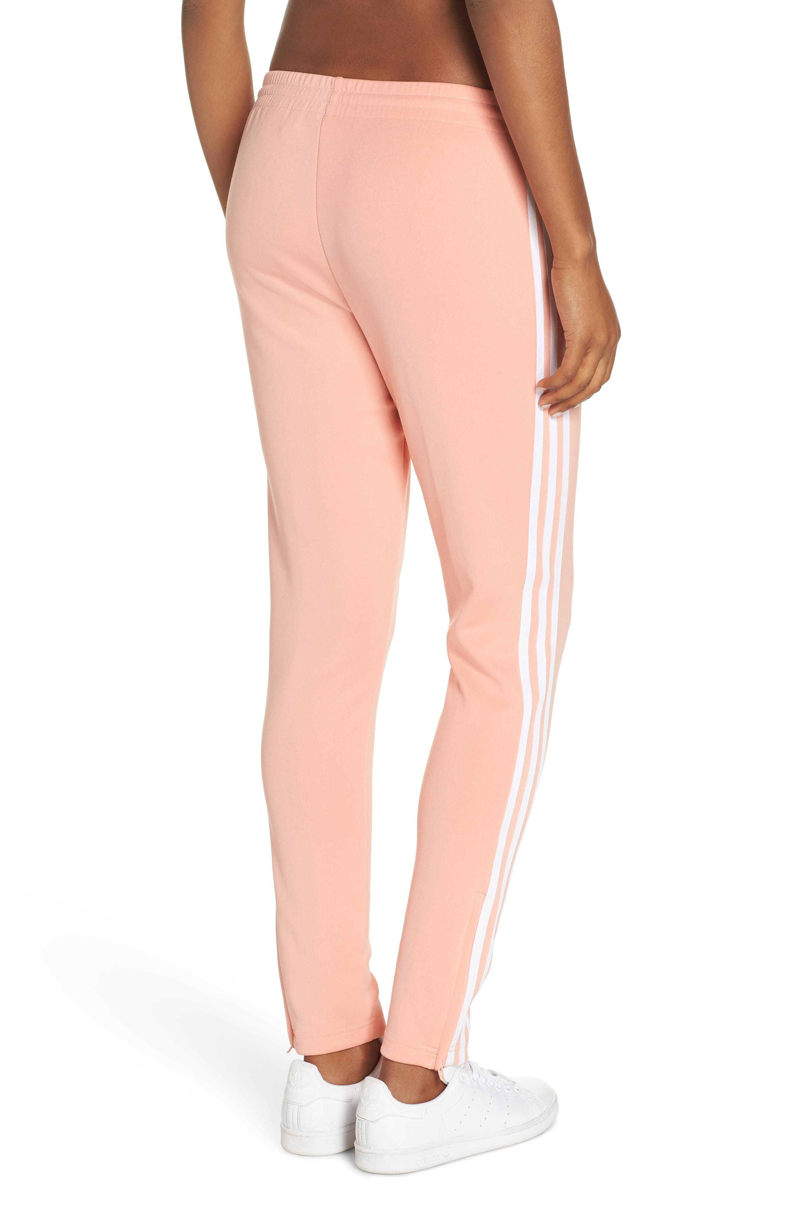ADIDAS ORIGINALS, adidas SST Track Pants, Alternate thumbnail 2, color, DUST PINK