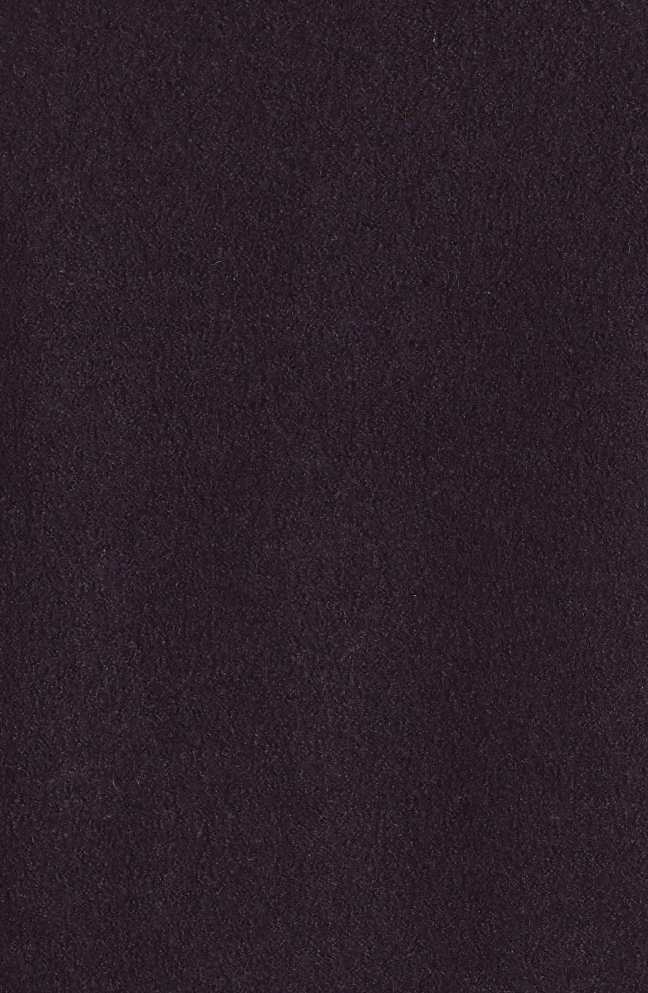 HALOGEN<SUP>®</SUP>, Asymmetrical Zip Boiled Wool Blend Coat, Alternate thumbnail 7, color, 500