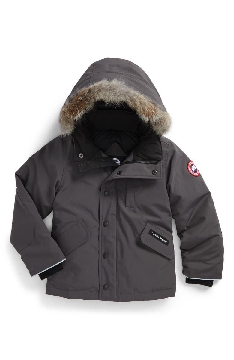 cd88863111a571 Canada Goose  Logan  Down Parka with Genuine Coyote Fur Trim (Little ...