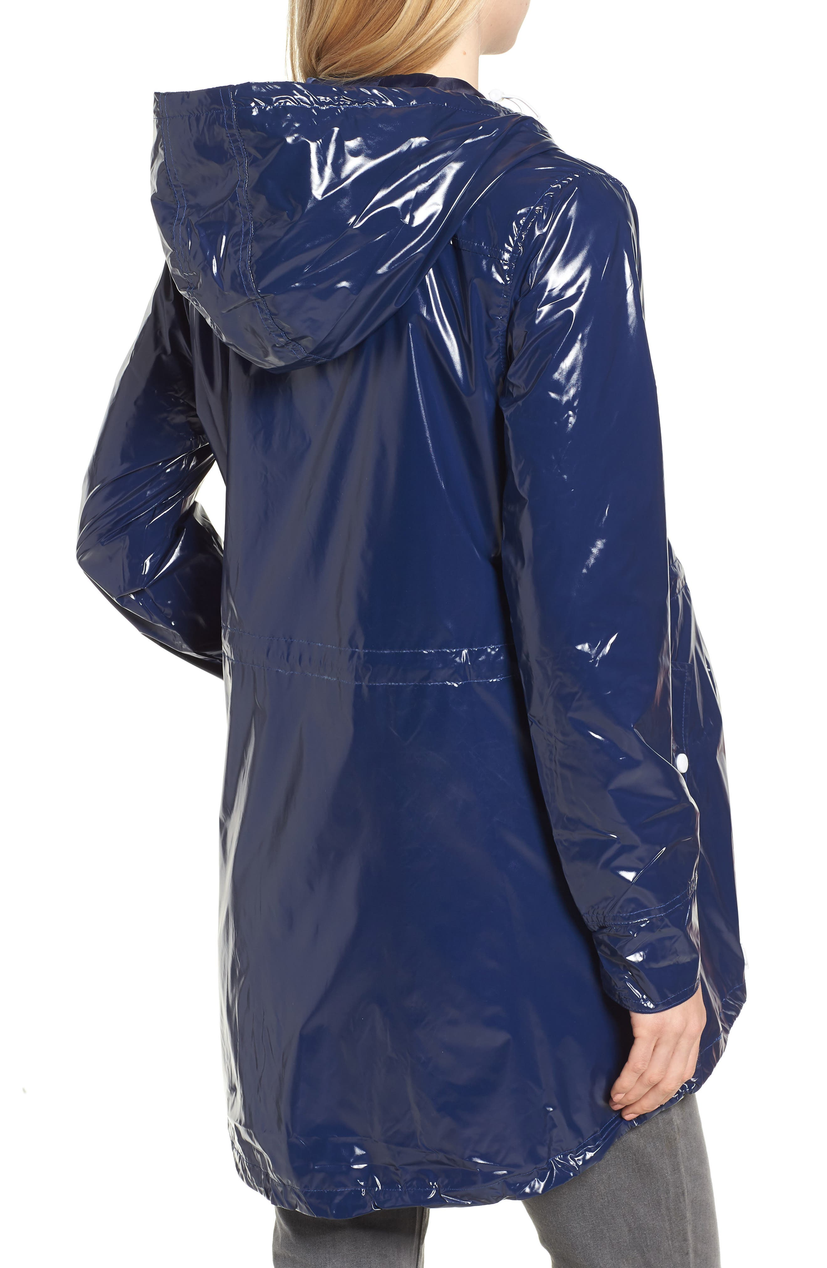 MODERN ETERNITY, Waterproof Convertible 3-in-1 Maternity Raincoat, Alternate thumbnail 3, color, BRIGHT NAVY