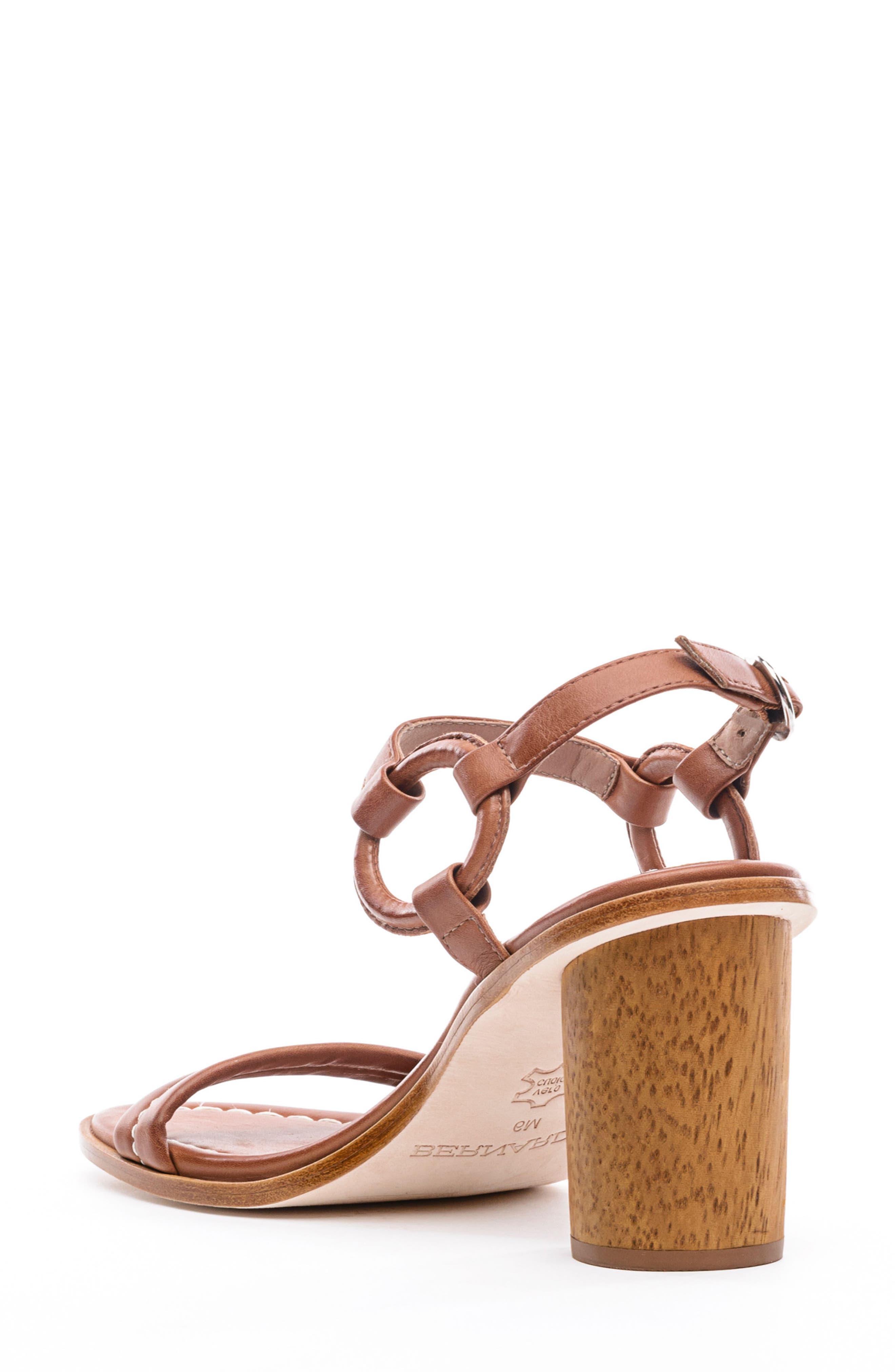 BERNARDO, Harlow Ankle Strap Sandal, Alternate thumbnail 2, color, LUGGAGE LEATHER