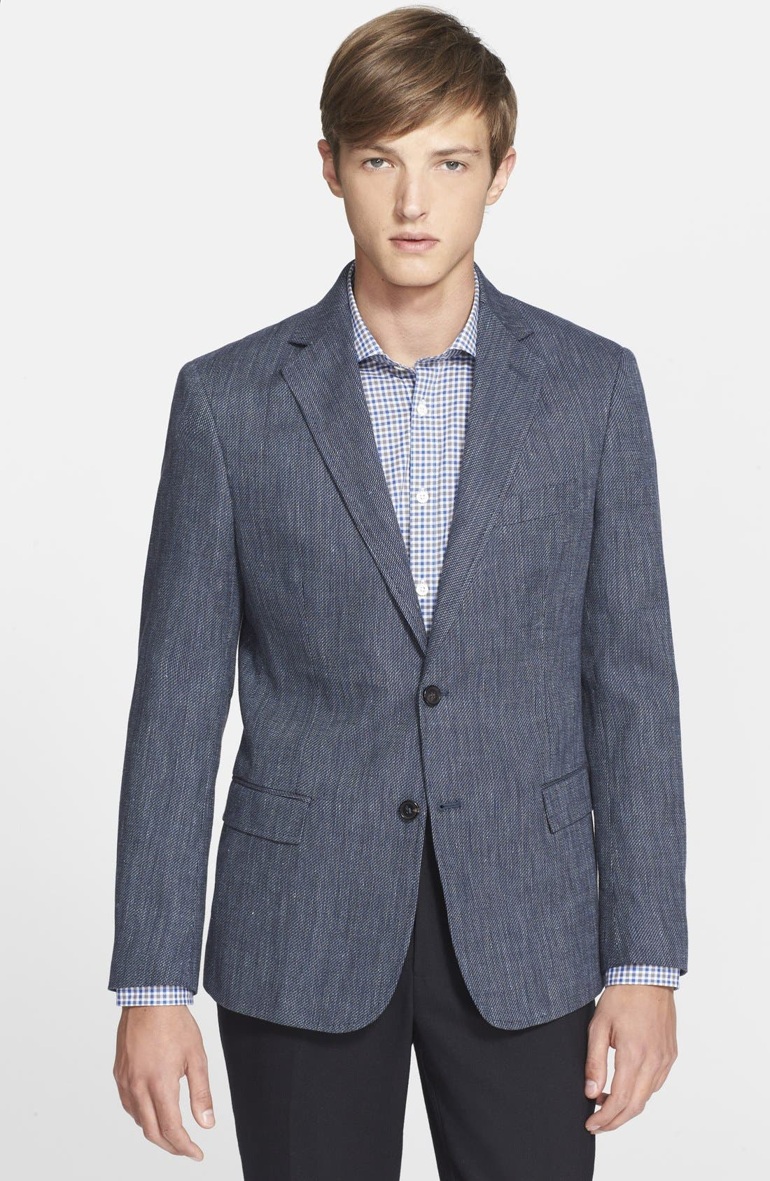 BILLY REID 'Lexington' Trim Fit Cotton, Linen & Silk Sport Coat, Main, color, 462