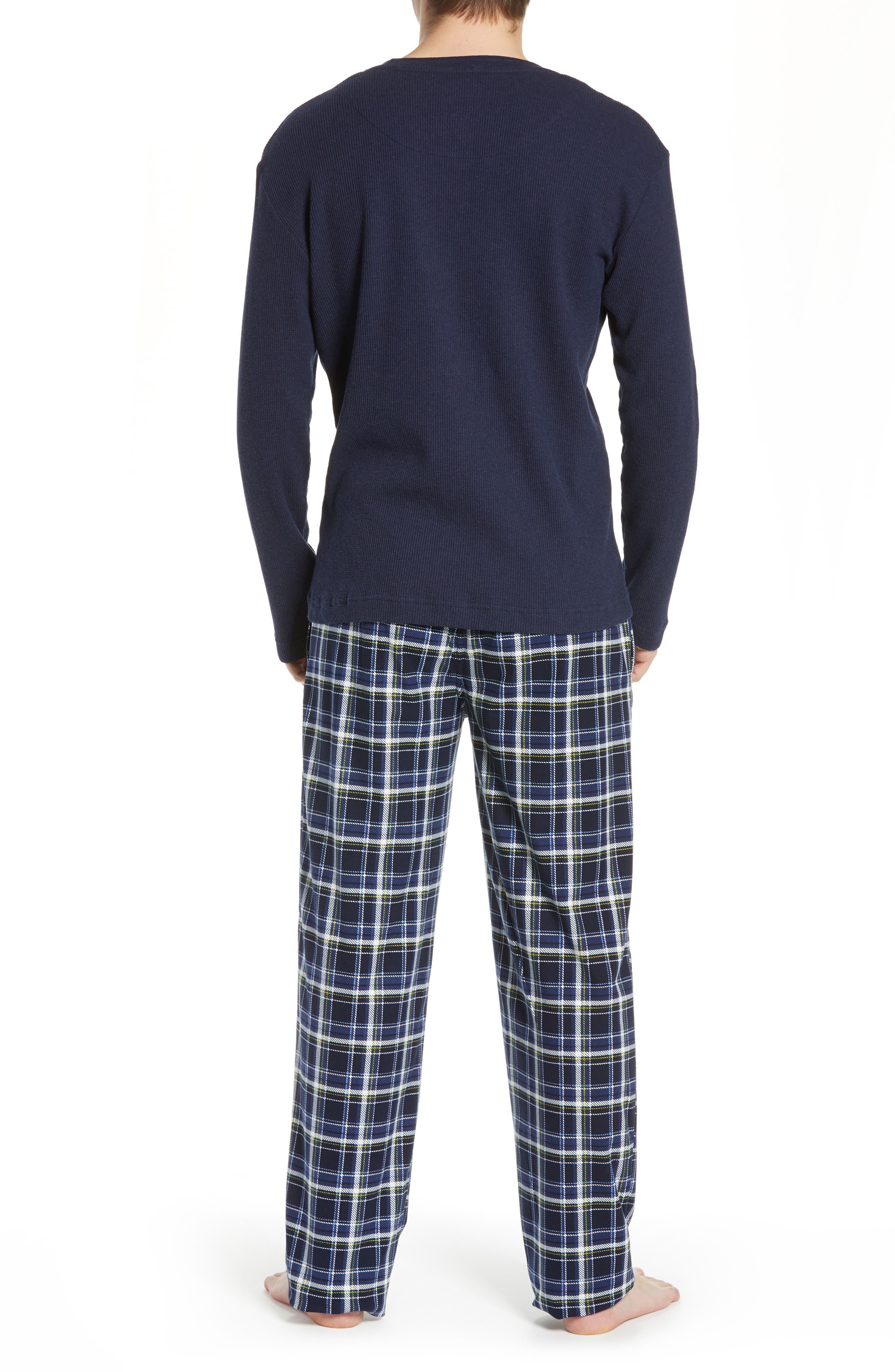 MAJESTIC INTERNATIONAL, Take It Outside 2-Piece Pajamas, Alternate thumbnail 2, color, BLUE