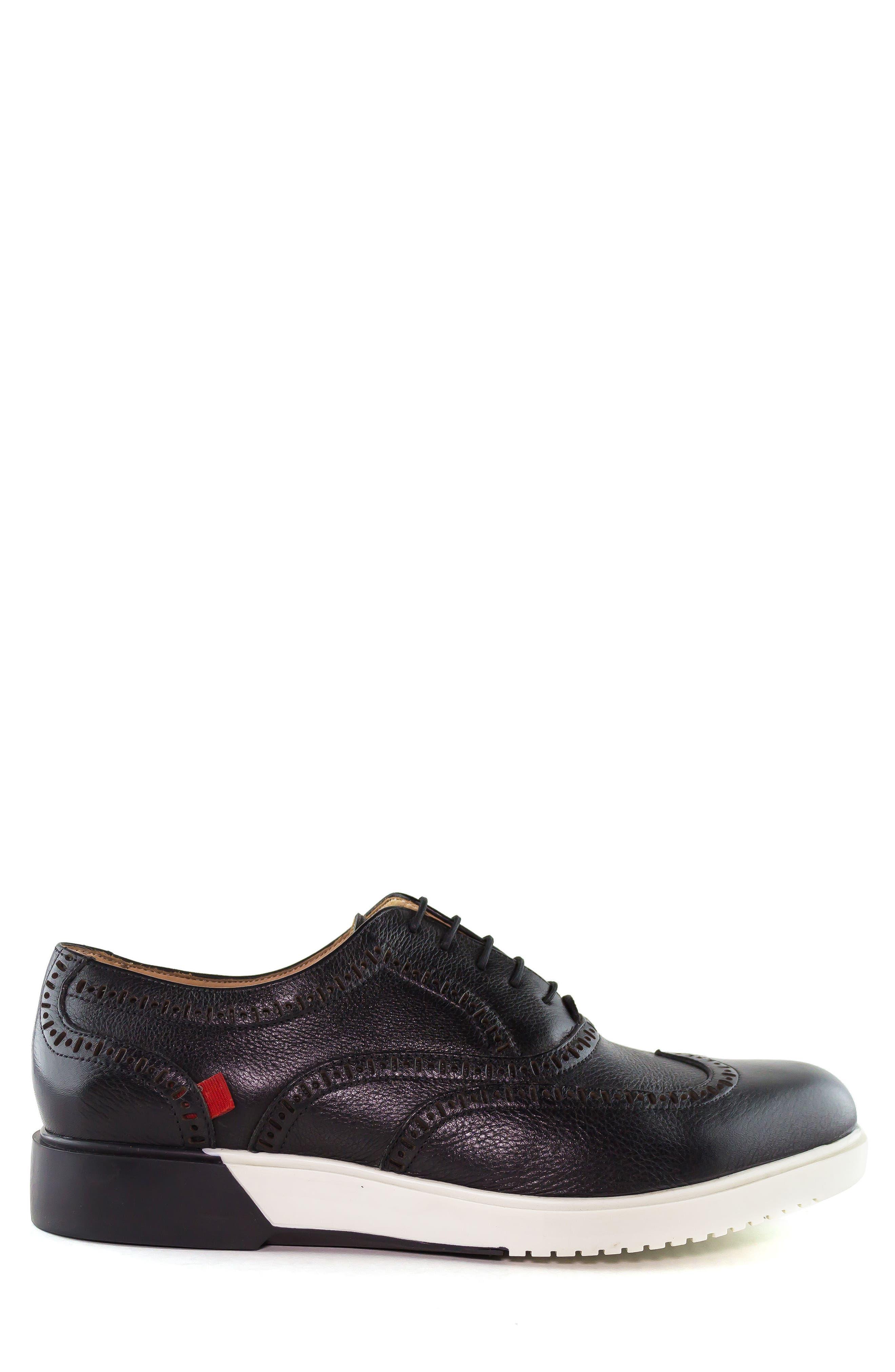 MARC JOSEPH NEW YORK, 5th Ave Wingtip Sneaker, Alternate thumbnail 3, color, 001