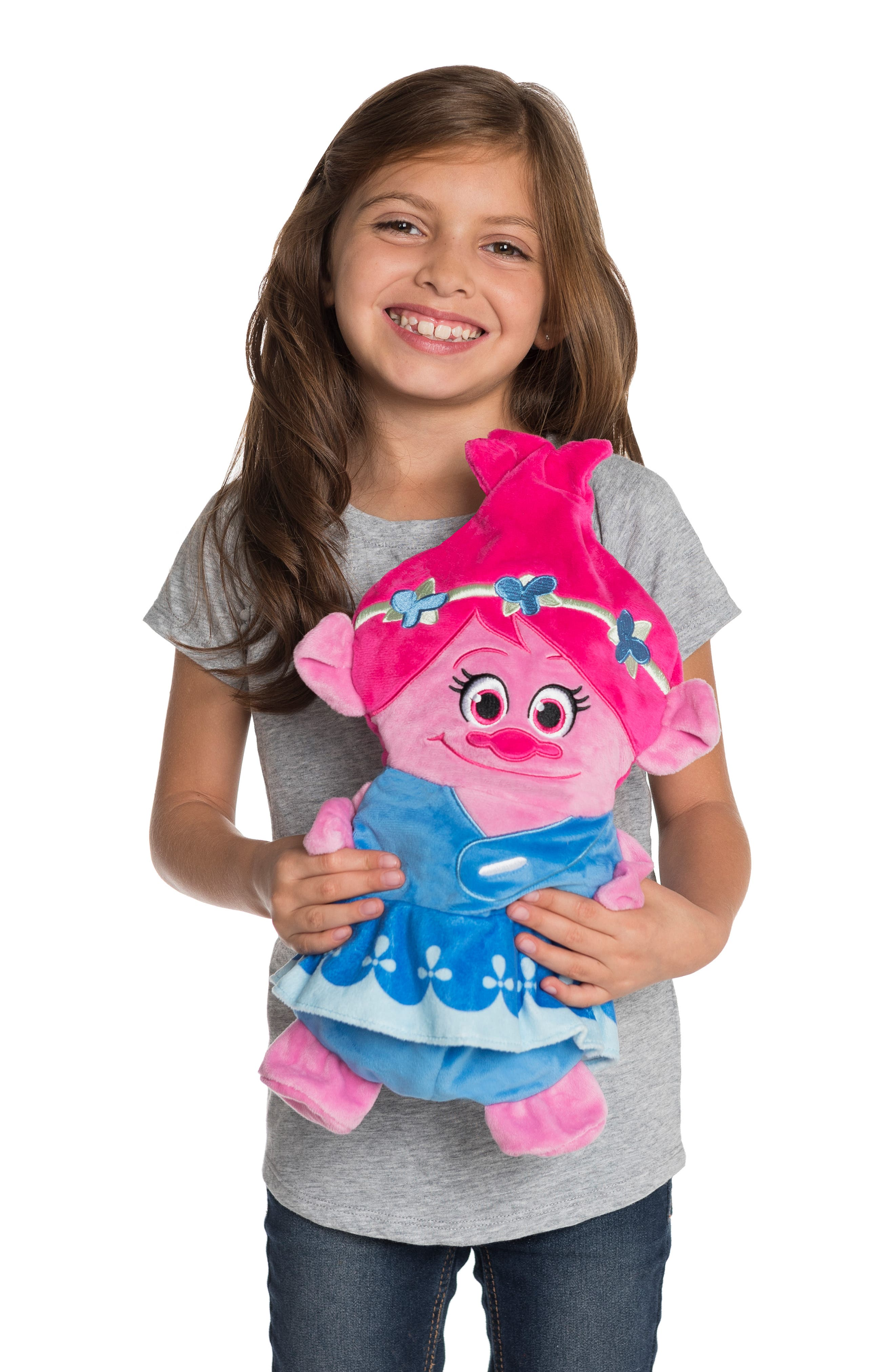 CUBCOATS, DreamWorks Trolls Poppy 2-in-1 Stuffed Animal Hoodie, Alternate thumbnail 8, color, PINK MIX