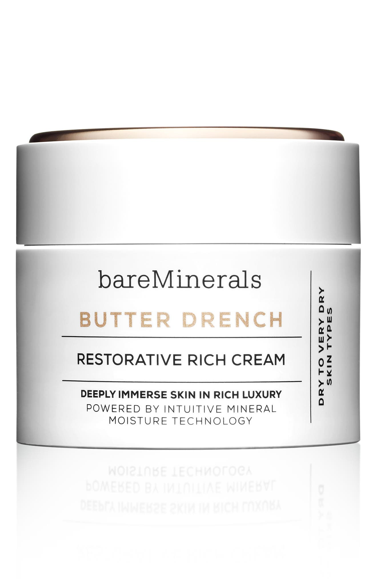 BAREMINERALS<SUP>®</SUP>, BUTTER DRENCH<sup>™</sup> Restorative Rich Cream Moisturizer, Main thumbnail 1, color, NO COLOR