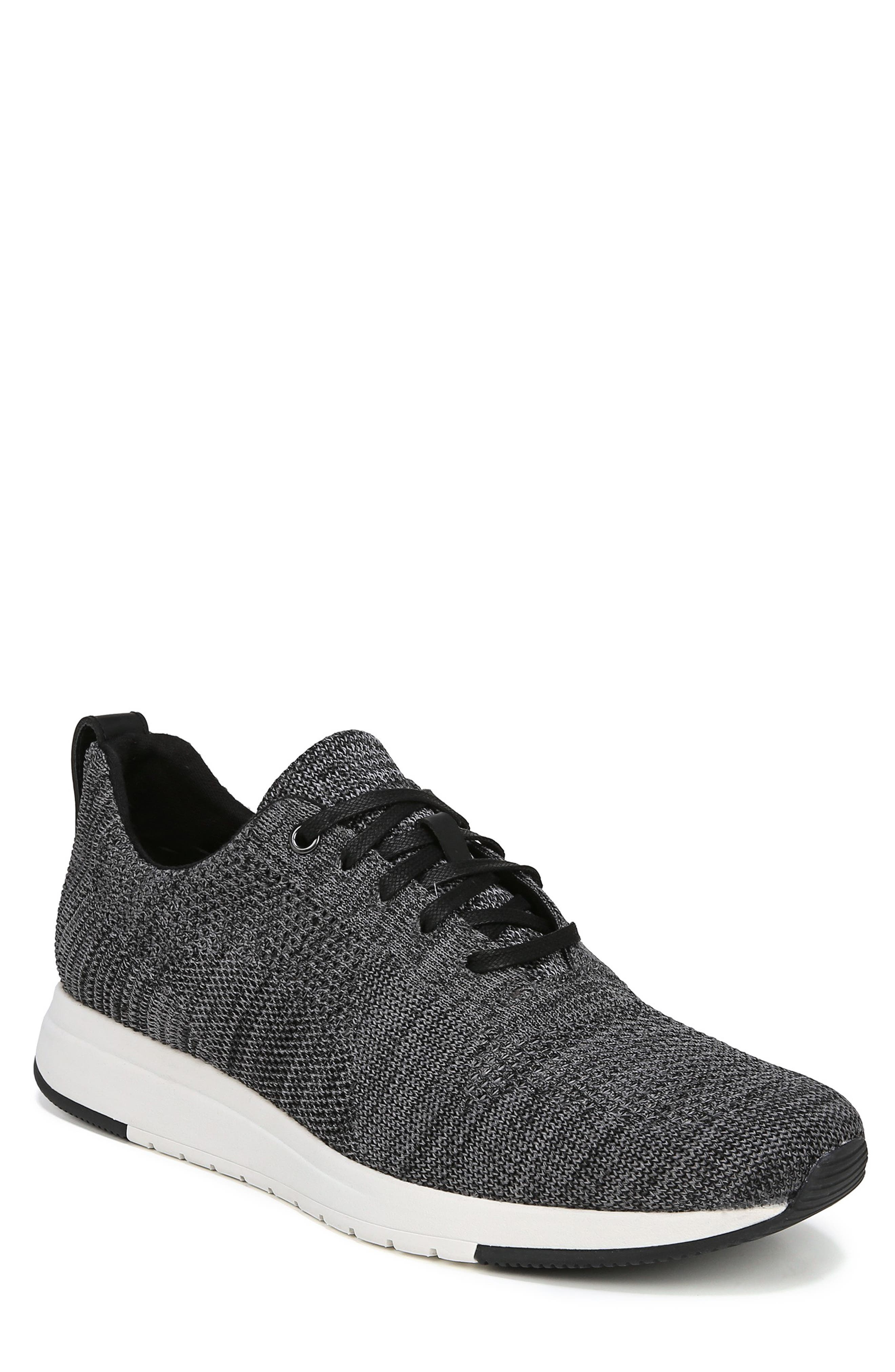 VINCE, Palo Knit Sneaker, Main thumbnail 1, color, MARL GREY/ BLACK