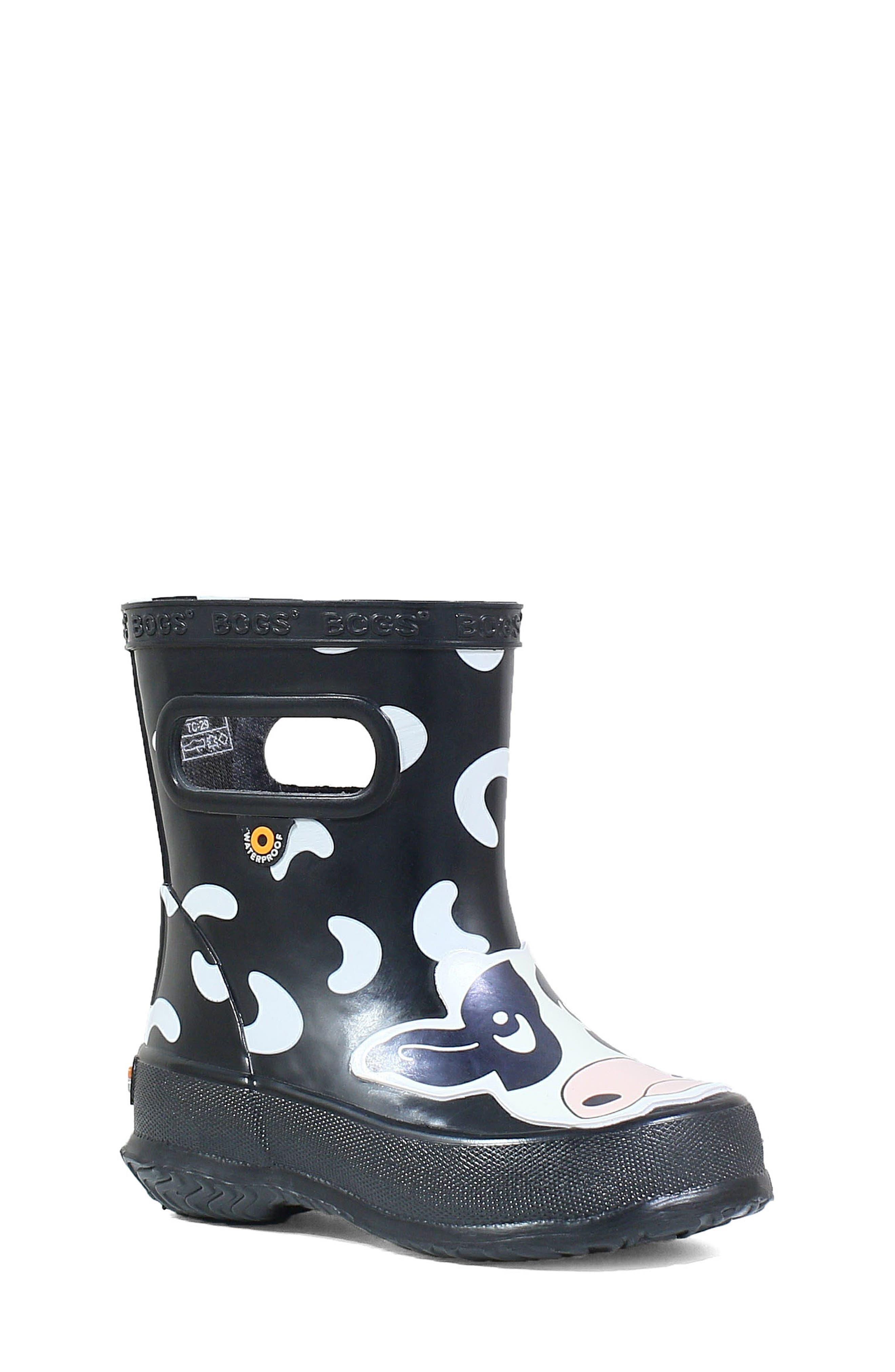 BOGS, Animal Skipper Waterproof Rain Boot, Main thumbnail 1, color, 009