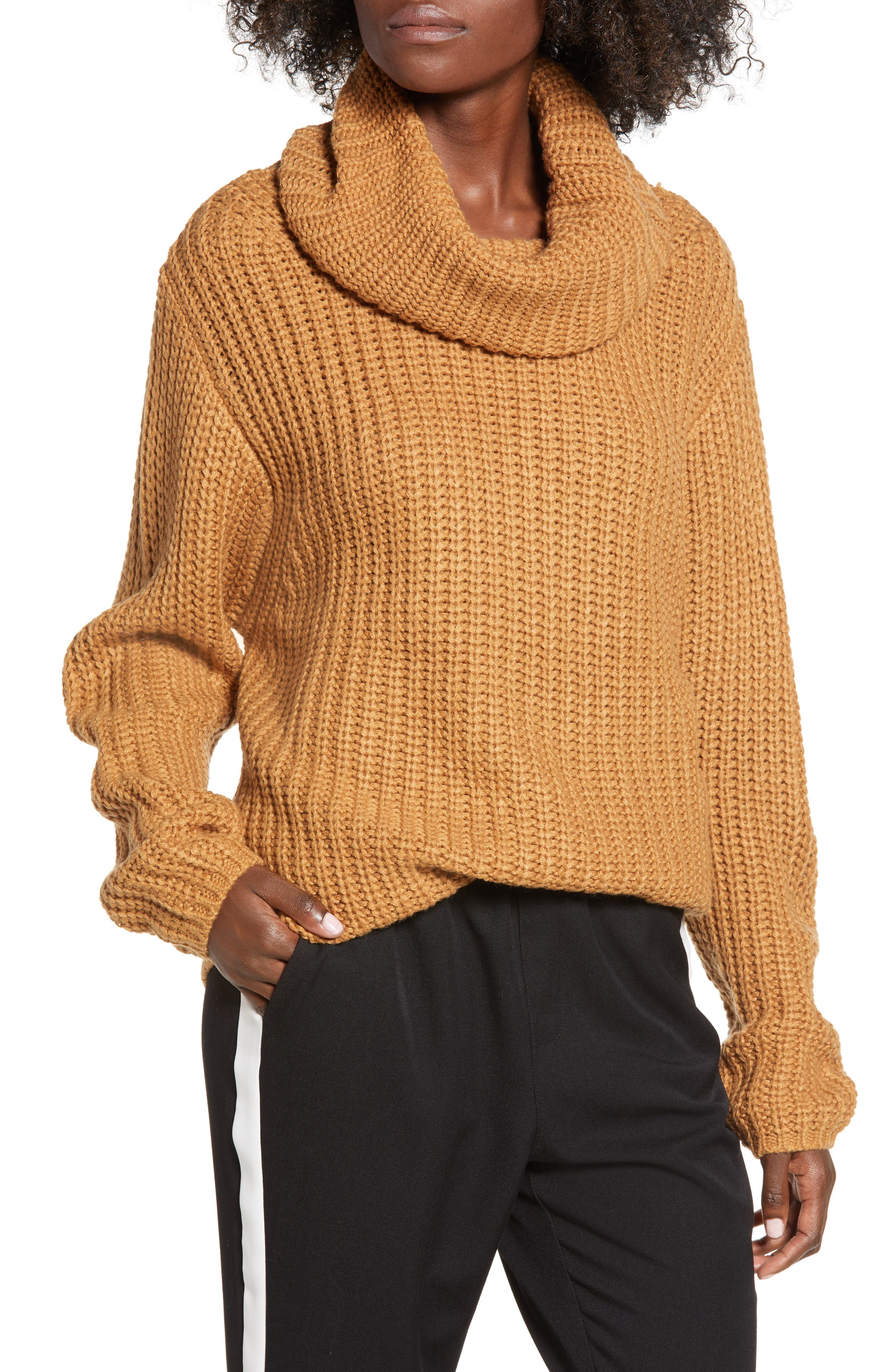 LEITH Oversize Turtleneck Sweater, Main, color, 235