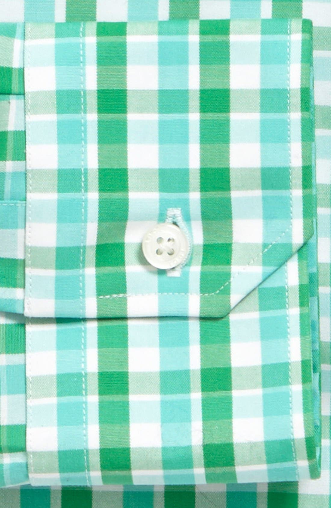 1901, Trim Fit Non-Iron Check Dress Shirt, Alternate thumbnail 2, color, 300