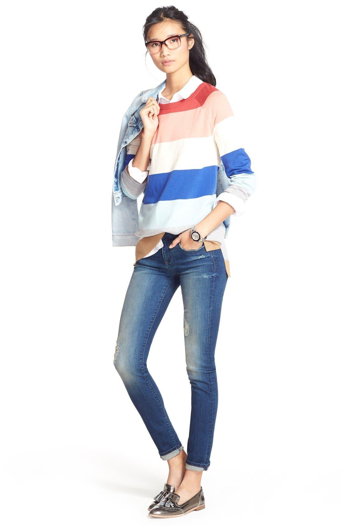 MAVI JEANS, 'Samantha' Denim Jacket, Alternate thumbnail 5, color, BLEACH VINTAGE