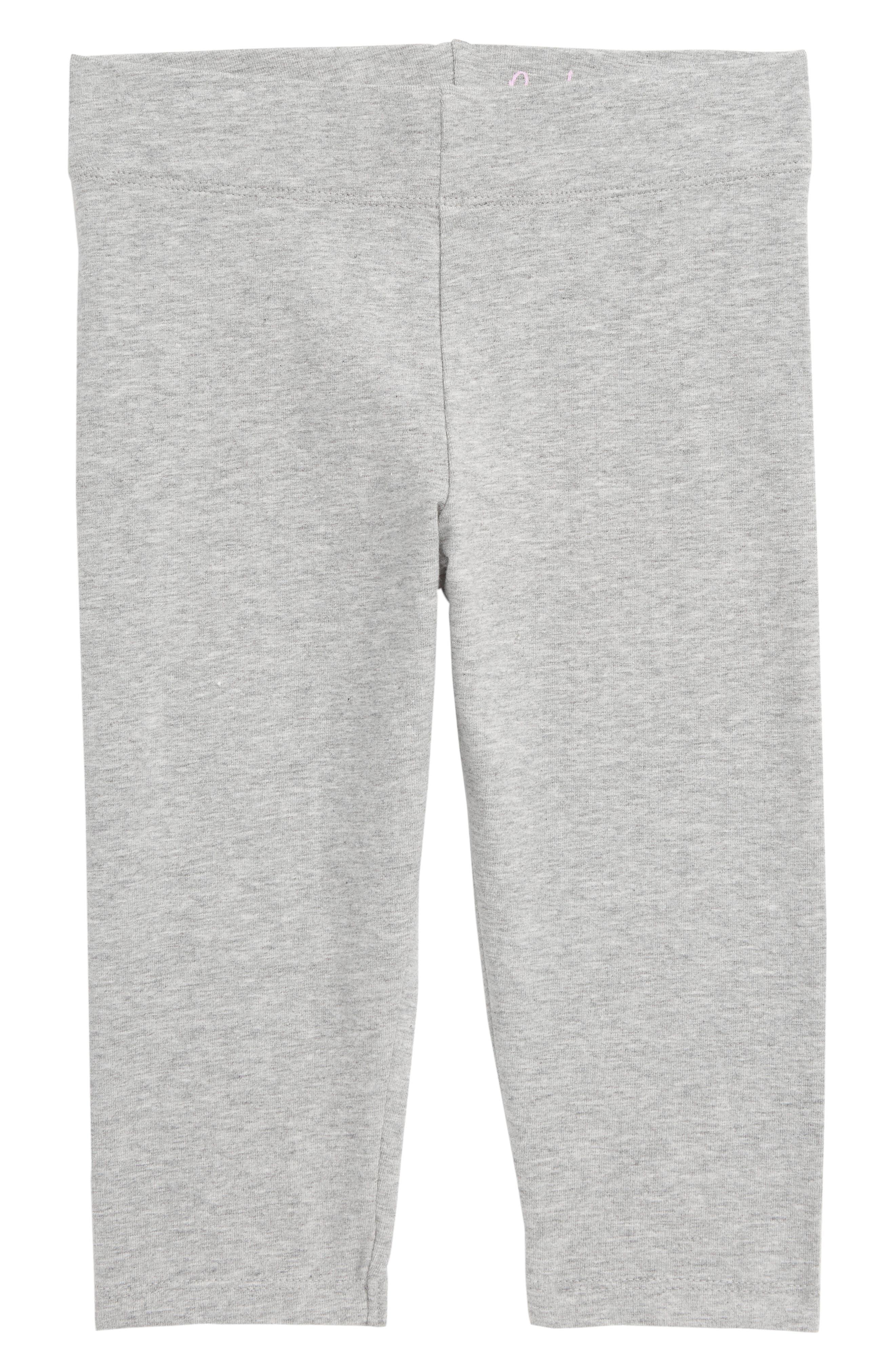Girls Boden Plain Crop Leggings Size 910Y  Grey