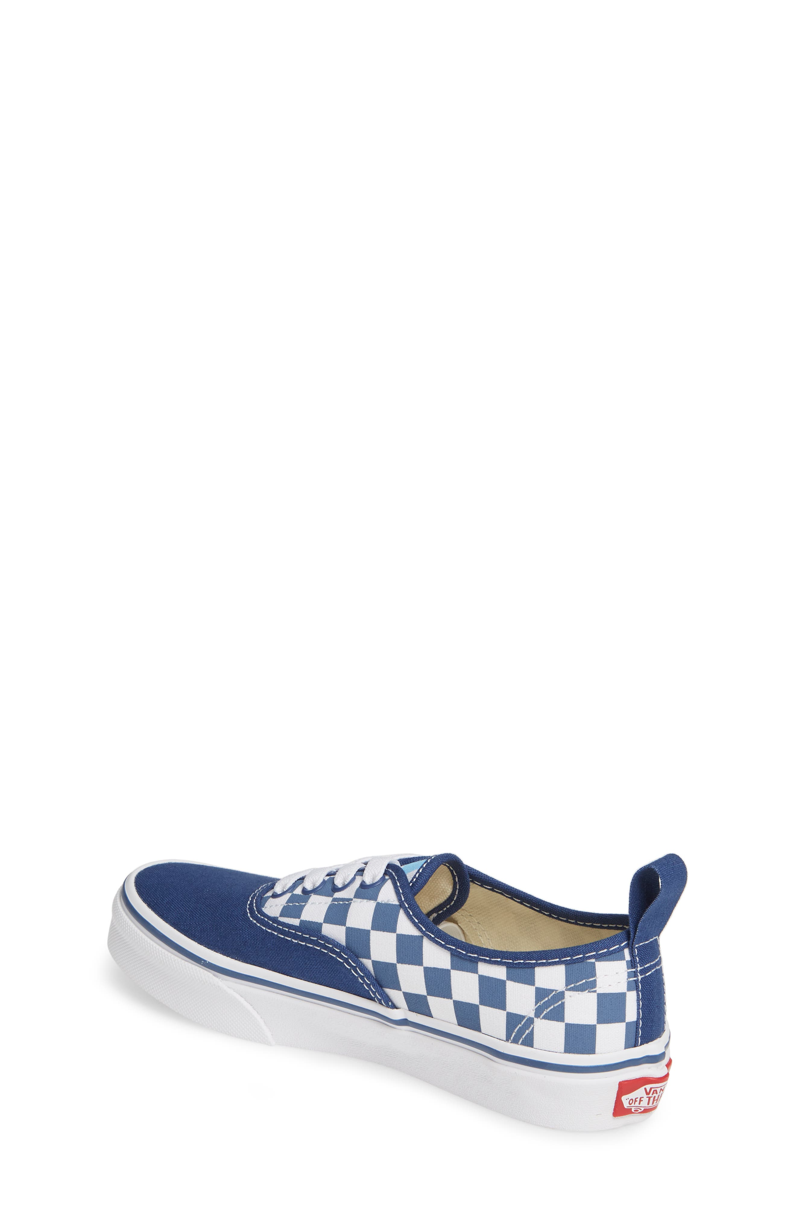 VANS, Authentic Elastic Lace Sneaker, Alternate thumbnail 2, color, TRUE NAVY/ BONNIE BLUE