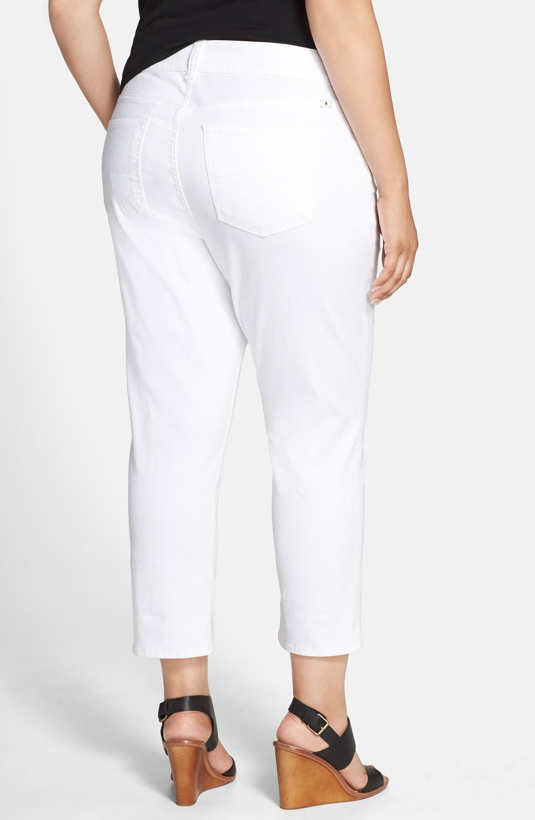 LUCKY BRAND, 'Emma' Stretch Crop Jeans, Alternate thumbnail 4, color, 110