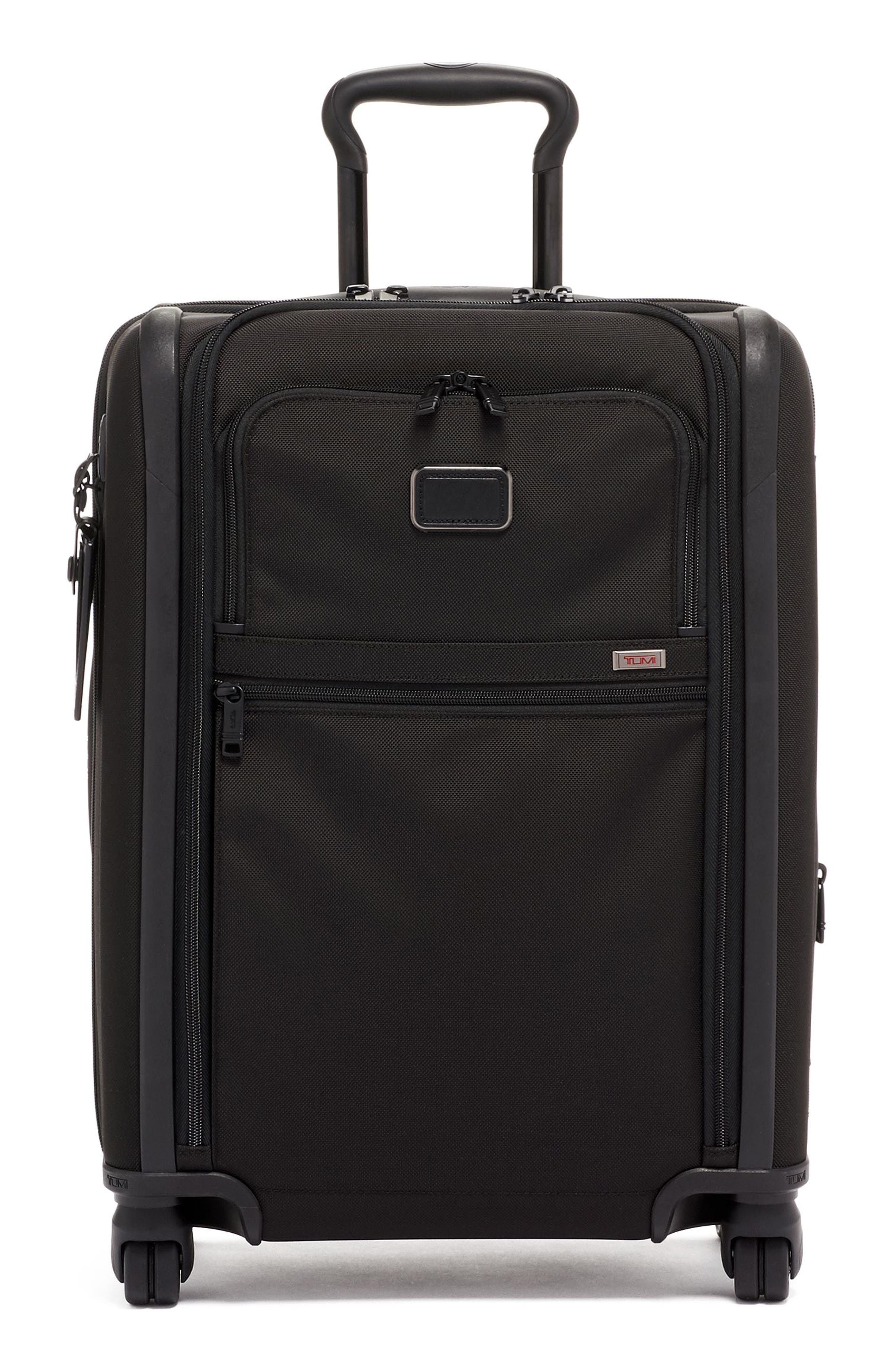 TUMI, Alpha 3 Collection 22-Inch Wheeled Dual Access Continental Carry-On, Main thumbnail 1, color, BLACK