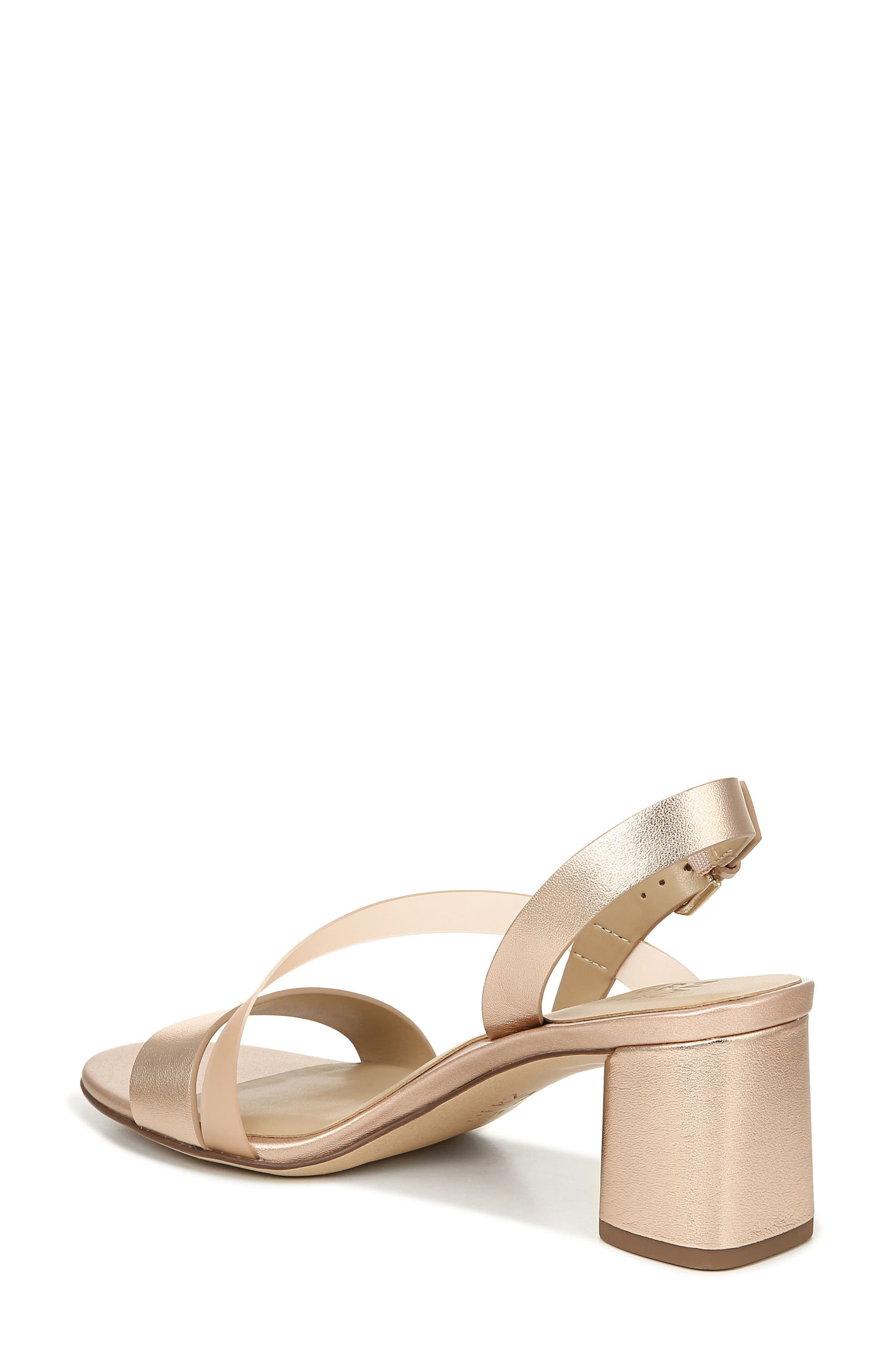 NATURALIZER, Arianna Block Heel Sandal, Alternate thumbnail 2, color, ROSE GOLD LEATHER