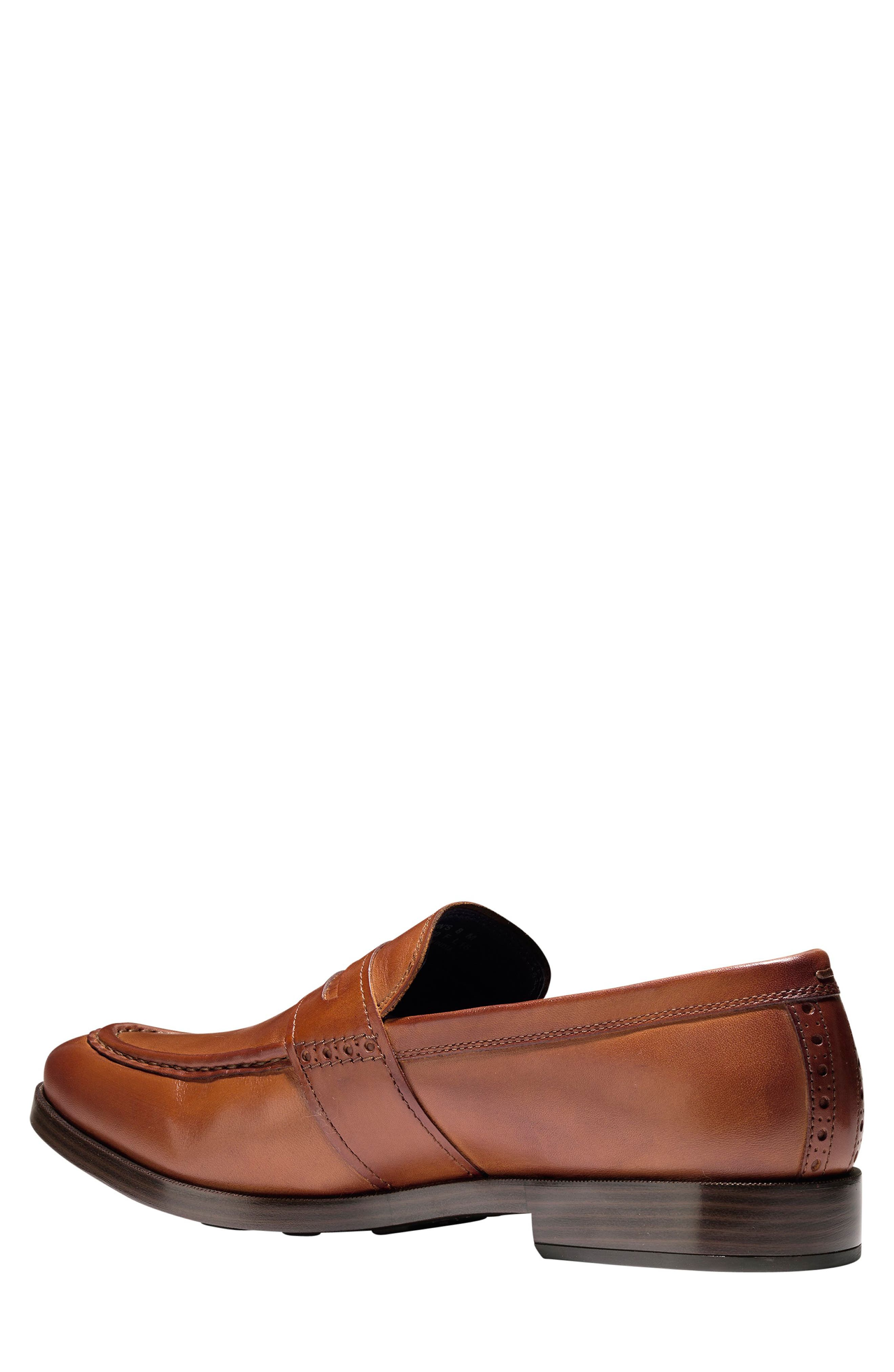 COLE HAAN, Jefferson Grand Penny Loafer, Alternate thumbnail 2, color, BRITISH TAN LEATHER