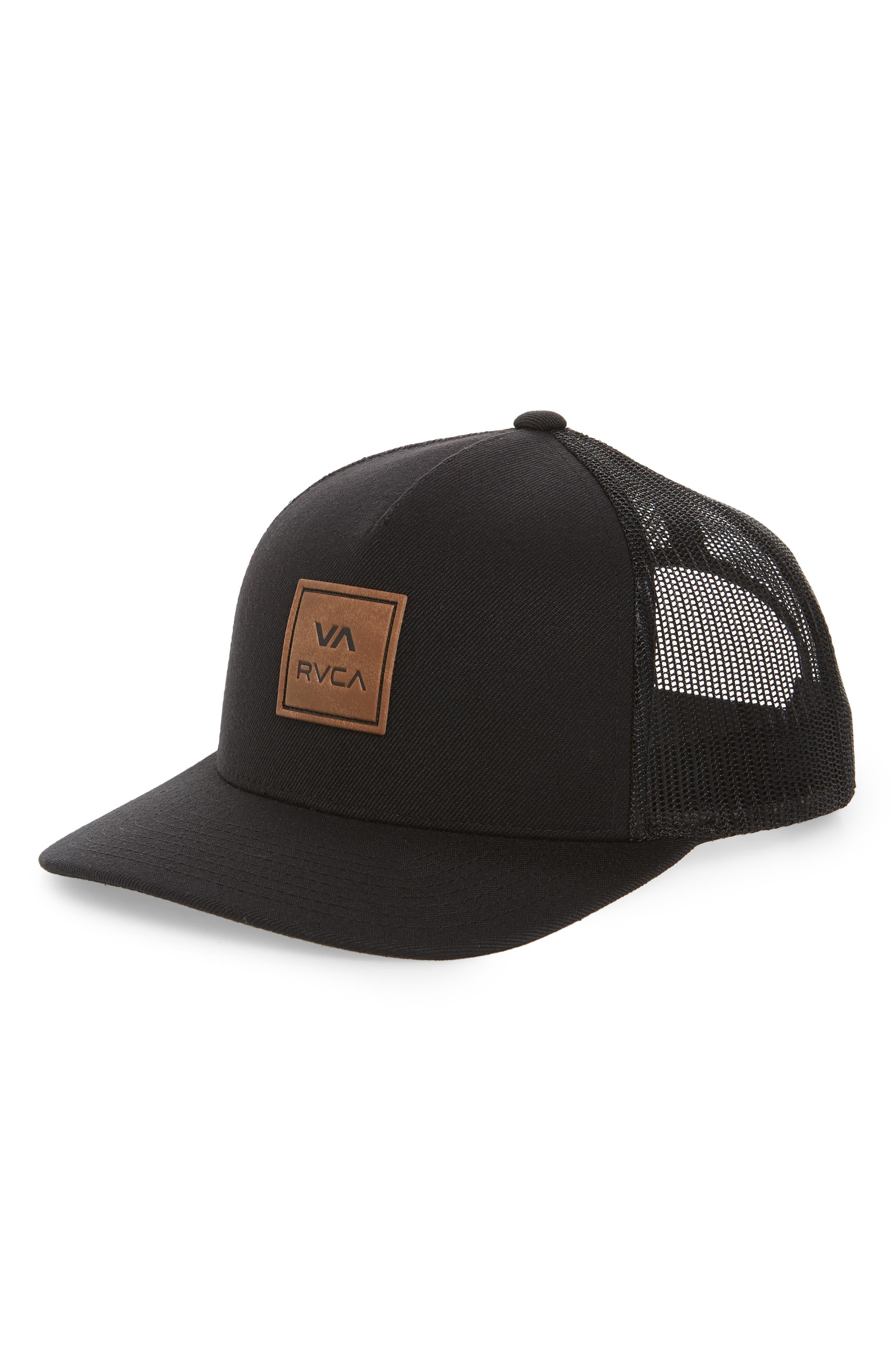 RVCA VA All the Way Logo Cap, Main, color, BLACK