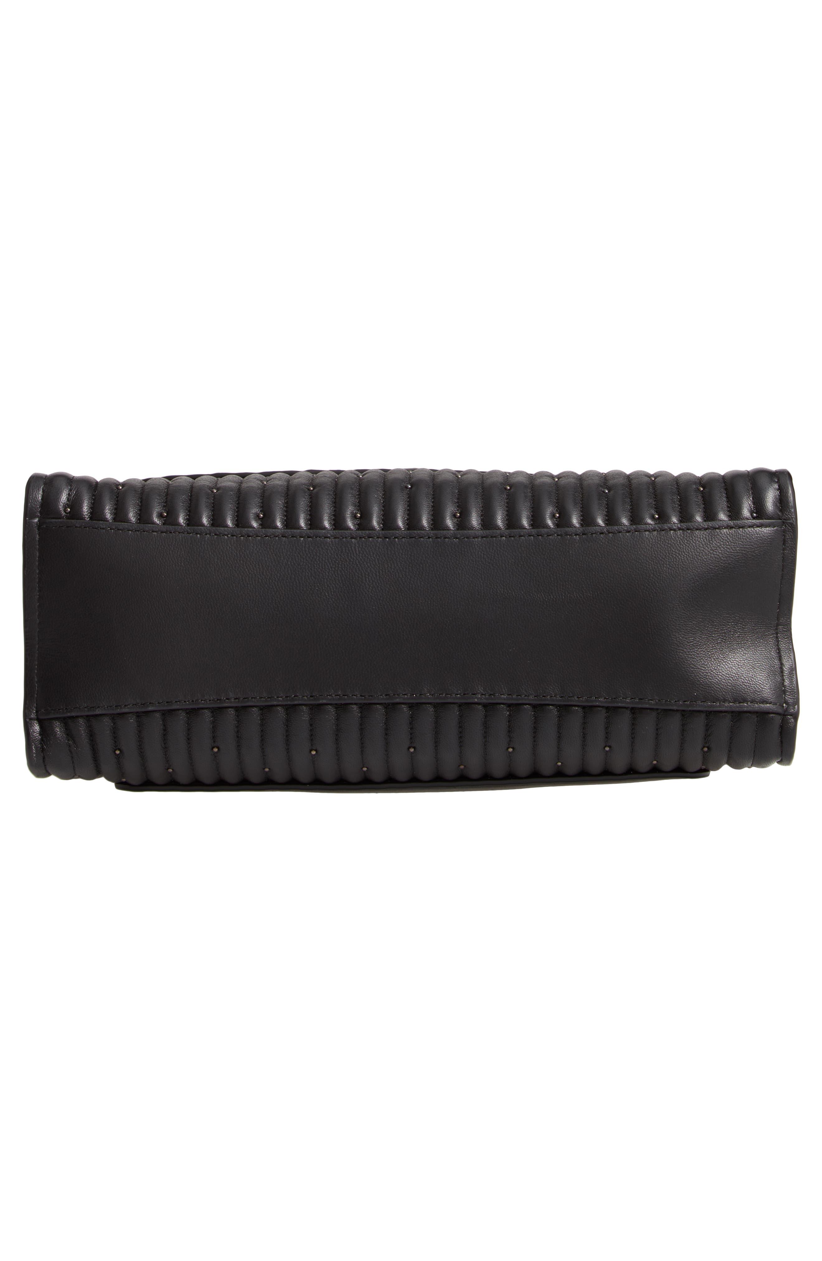 COACH, Parker Quilted Leather Shoulder Bag, Alternate thumbnail 7, color, BLACK