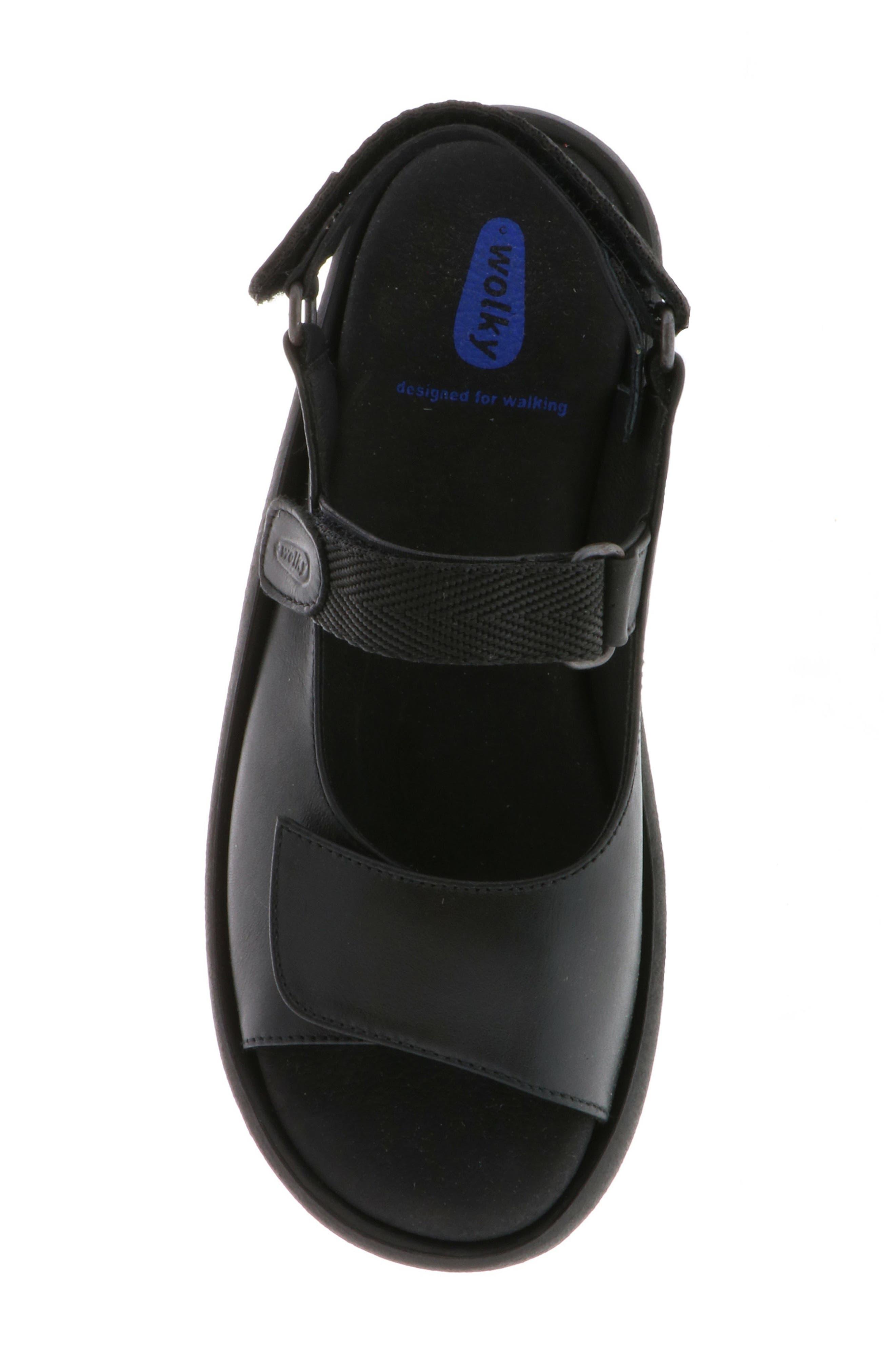 WOLKY, Jewel Sport Sandal, Alternate thumbnail 5, color, BLACK/ BLACK