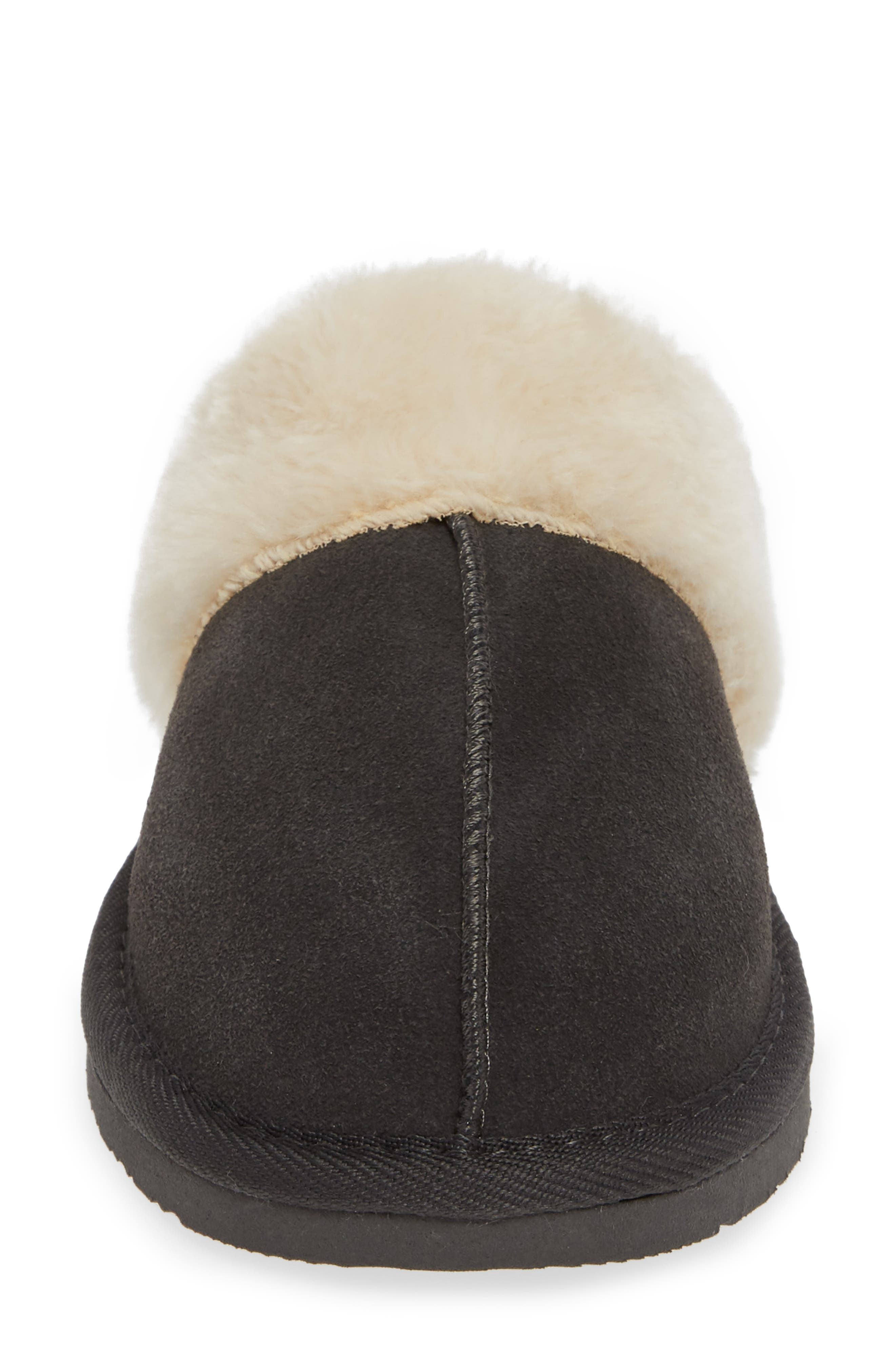 MINNETONKA, Mule Slipper, Alternate thumbnail 4, color, CHARCOAL SUEDE