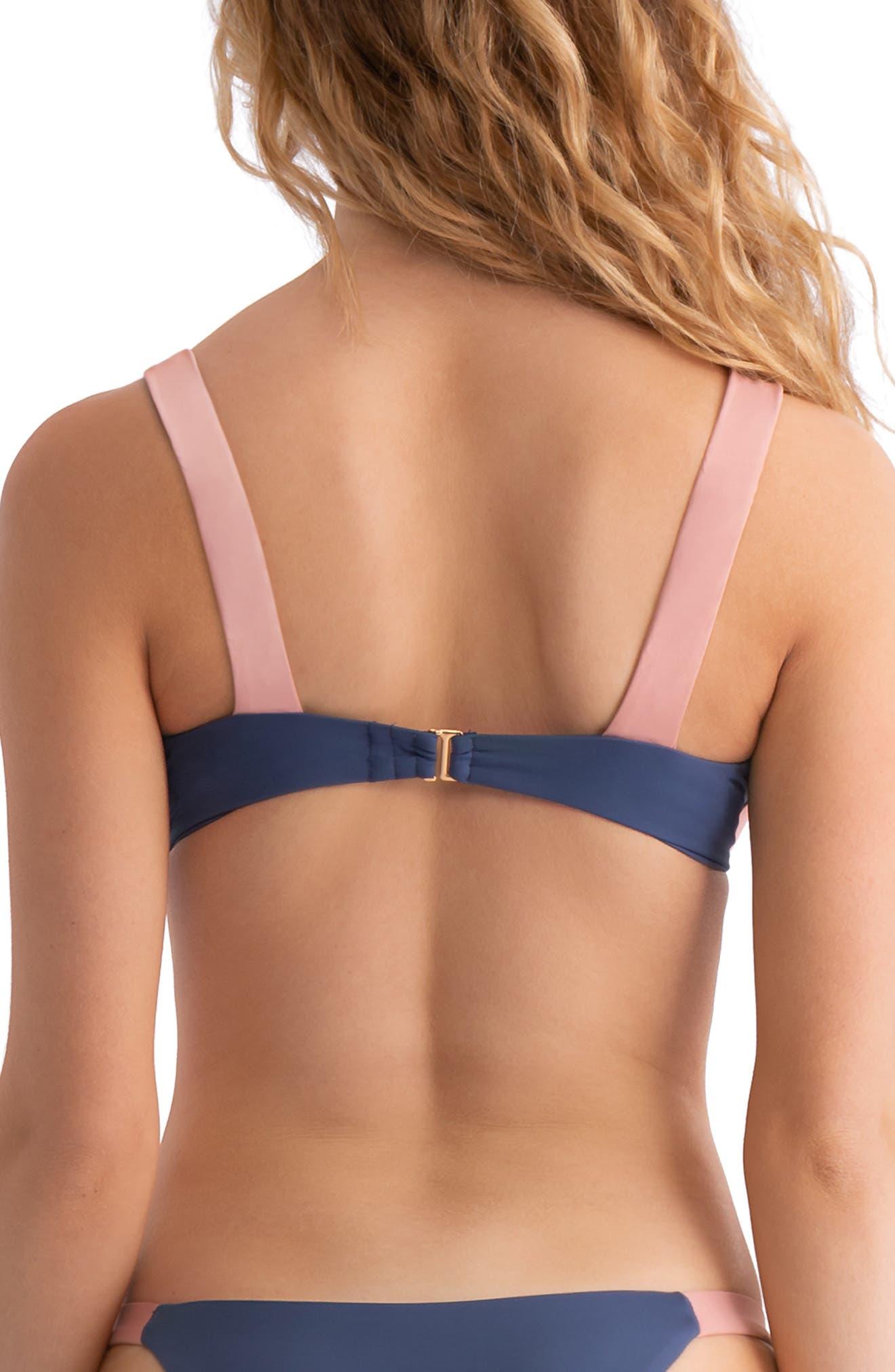 TAVIK, Sawyer Underwire Bikini Top, Alternate thumbnail 2, color, COASTAL BLUE/ DESERT ROSE