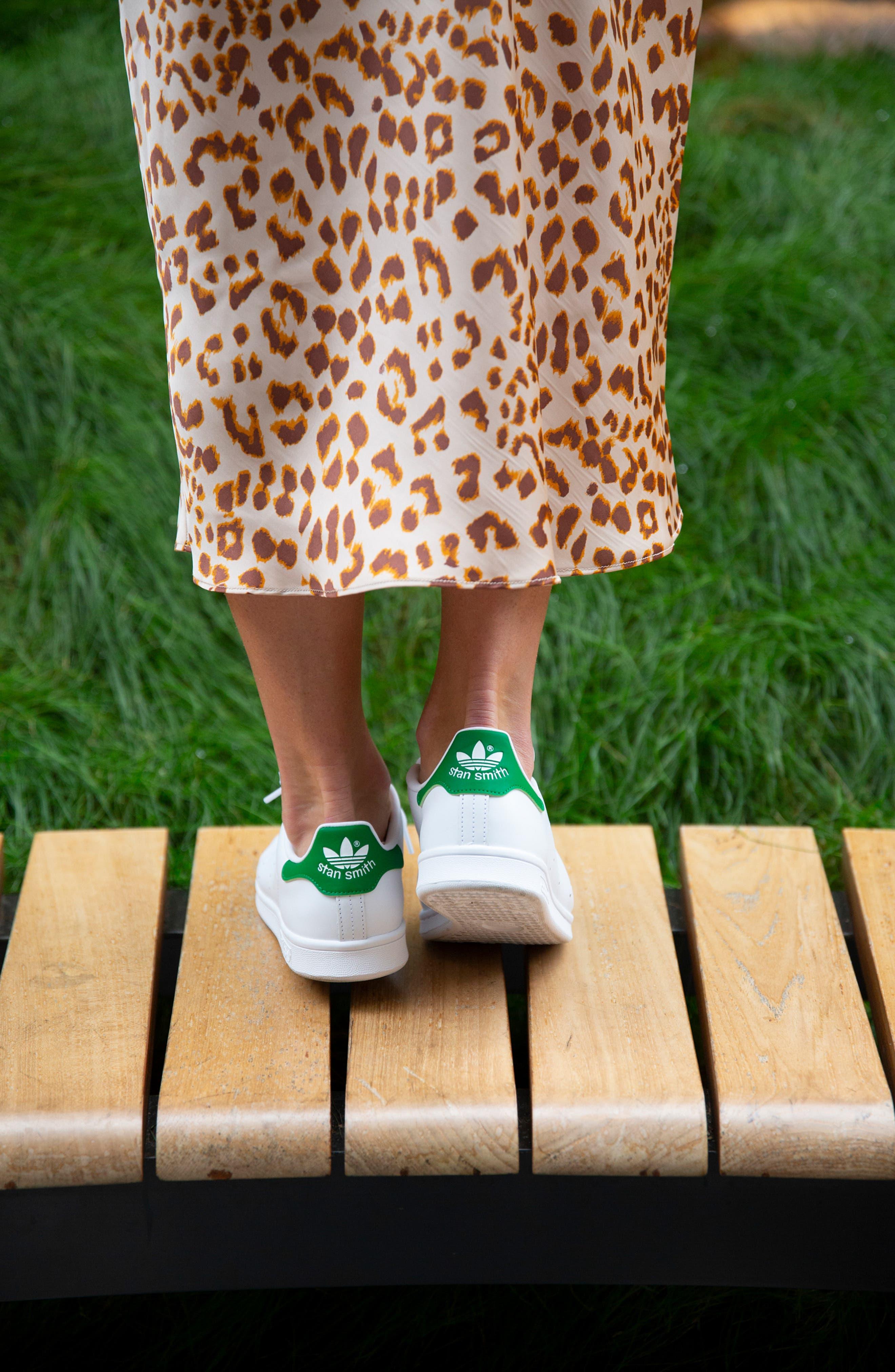 ADIDAS, Stan Smith Sneaker, Alternate thumbnail 9, color, WHITE/ FAIRWAY