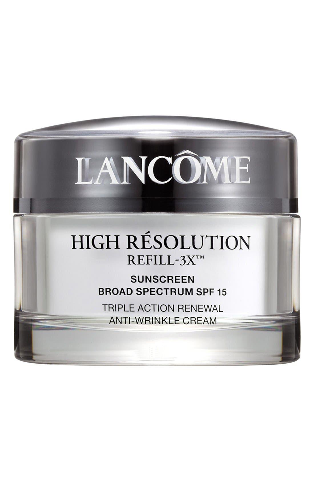 LANCÔME, High Résolution Refill-3X Anti-Wrinkle Moisturizer Cream, Main thumbnail 1, color, NO COLOR