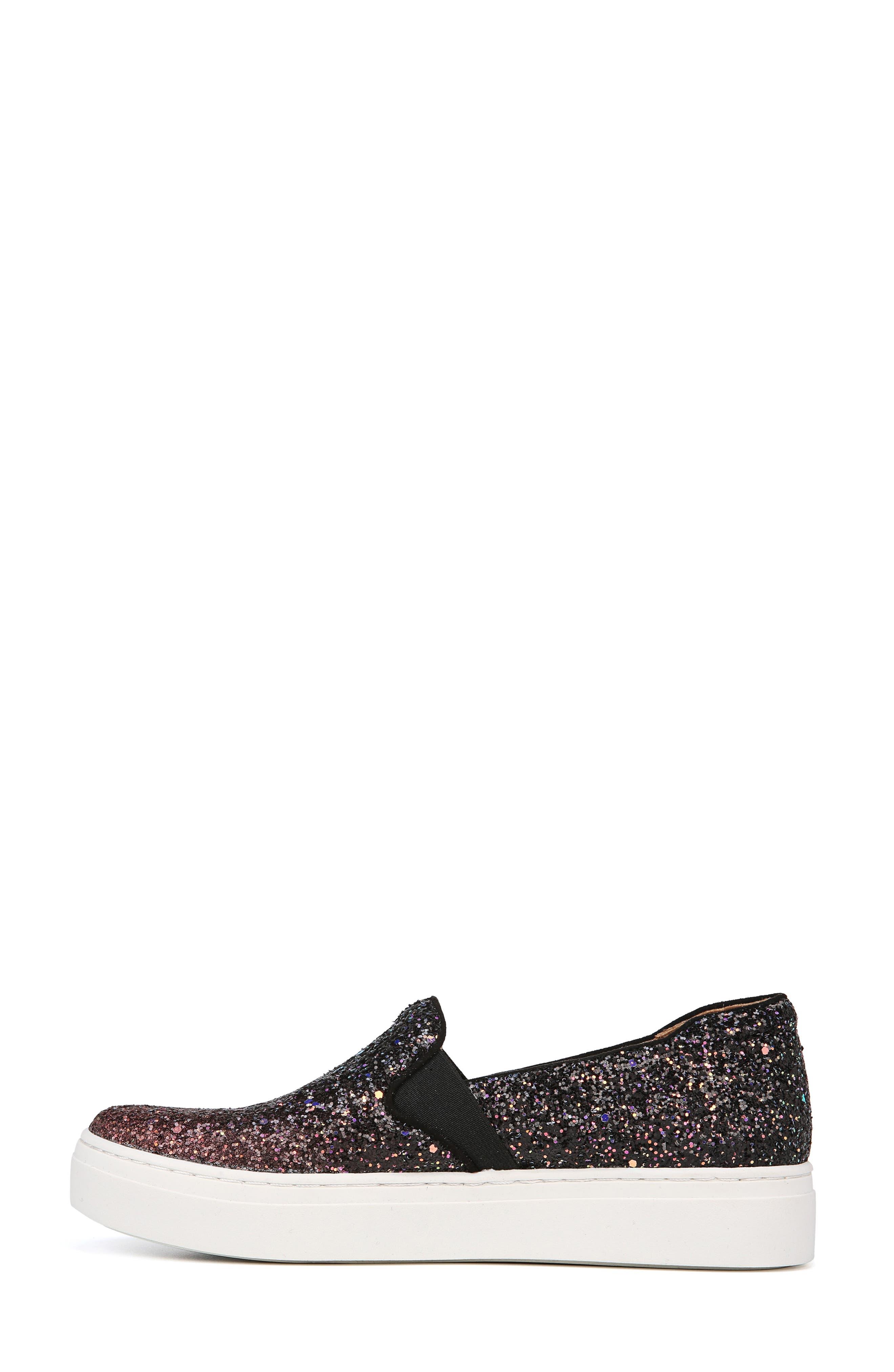 NATURALIZER, Carly Slip-On Sneaker, Alternate thumbnail 7, color, MULTI GLITTER FABRIC