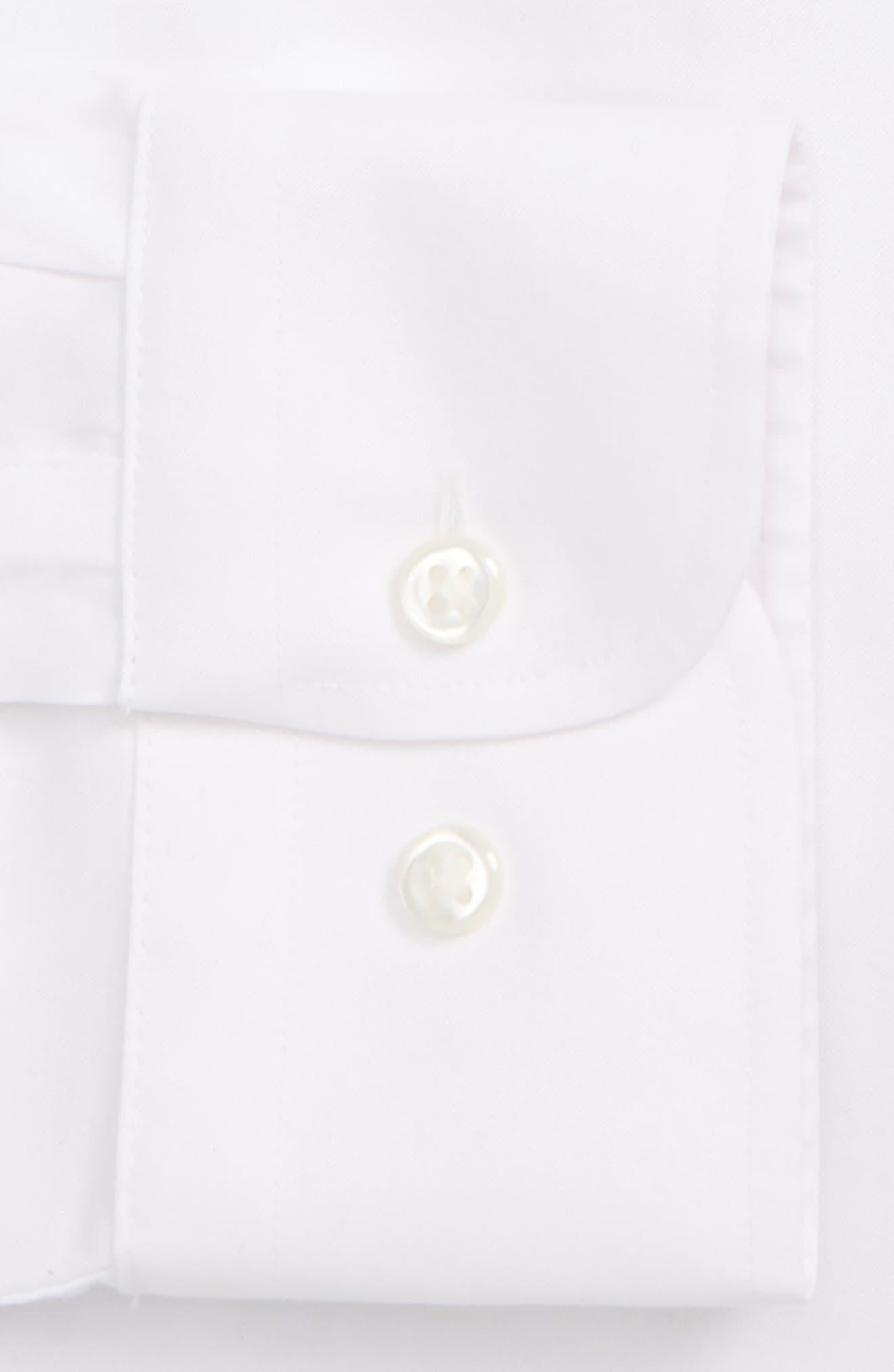 NORDSTROM MEN'S SHOP, Smartcare<sup>™</sup> Classic Fit Solid Dress Shirt, Alternate thumbnail 6, color, WHITE BRILLIANT