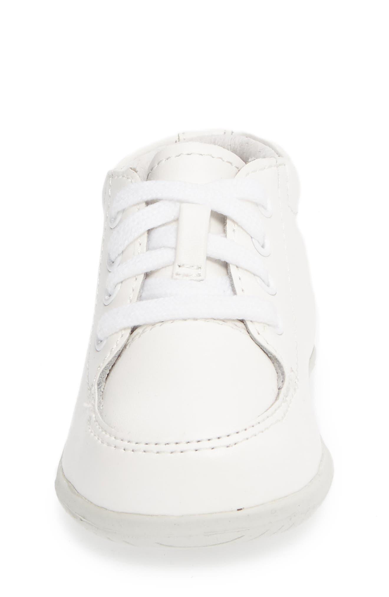 STRIDE RITE, Grayson Sneaker, Alternate thumbnail 3, color, WHITE