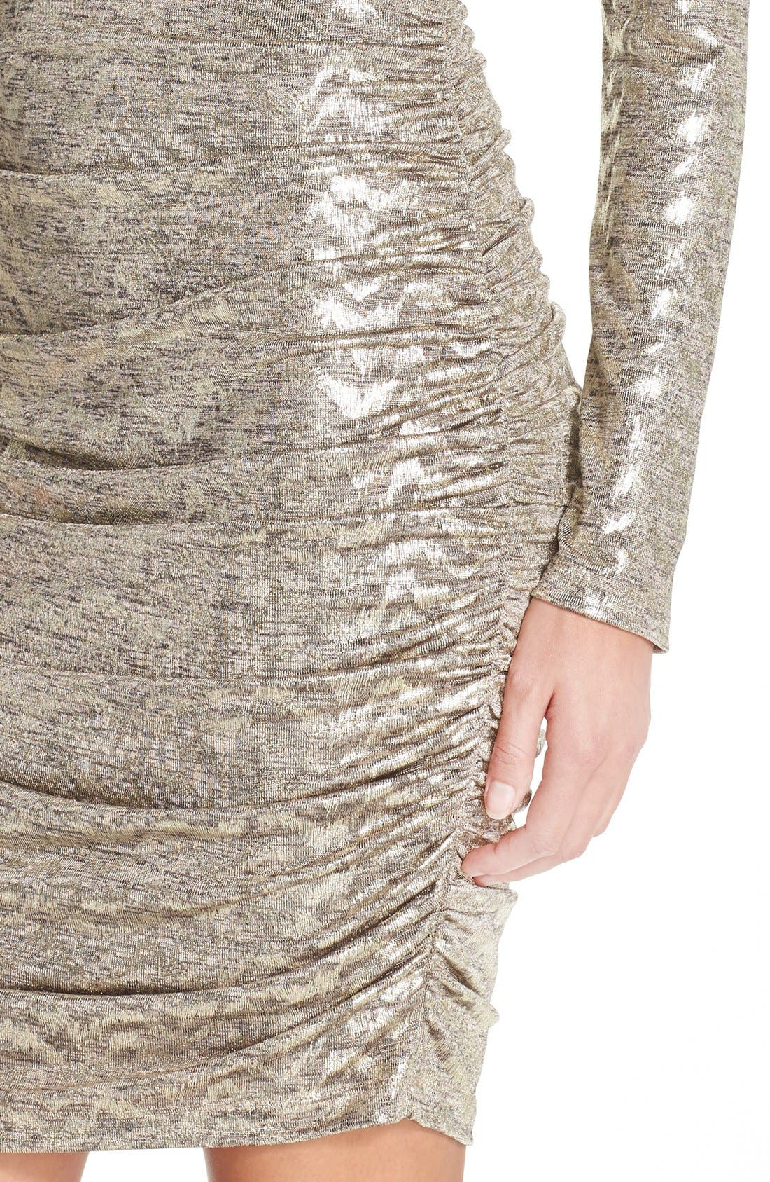 VINCE CAMUTO, Metallic Jersey Body-Con Dress, Alternate thumbnail 2, color, 710