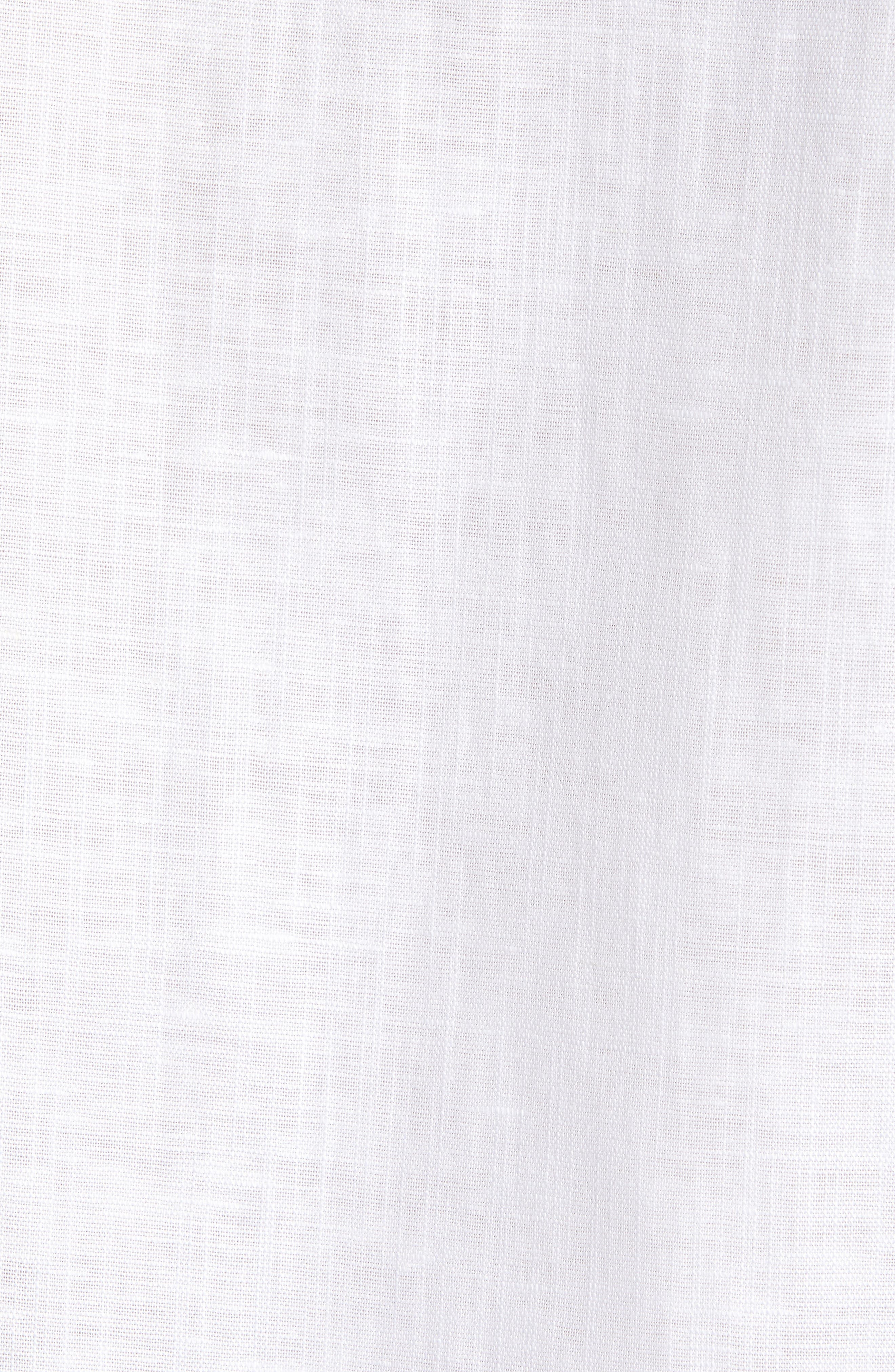 TED BAKER LONDON, Emuu Slim Fit Linen Shirt, Alternate thumbnail 5, color, WHITE