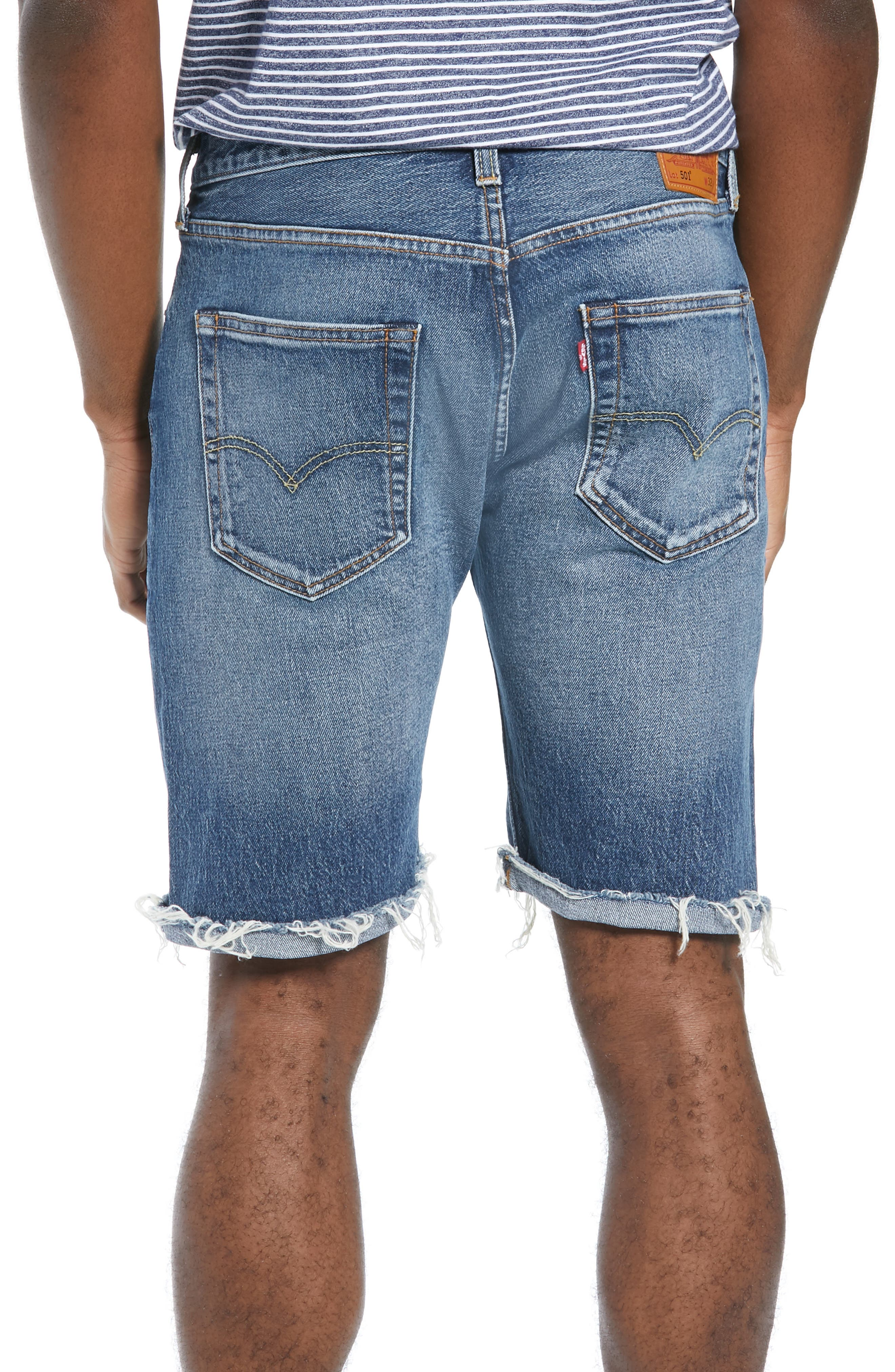 LEVI'S<SUP>®</SUP>, 501<sup>®</sup> CT Denim Shorts, Alternate thumbnail 2, color, RED HOTS