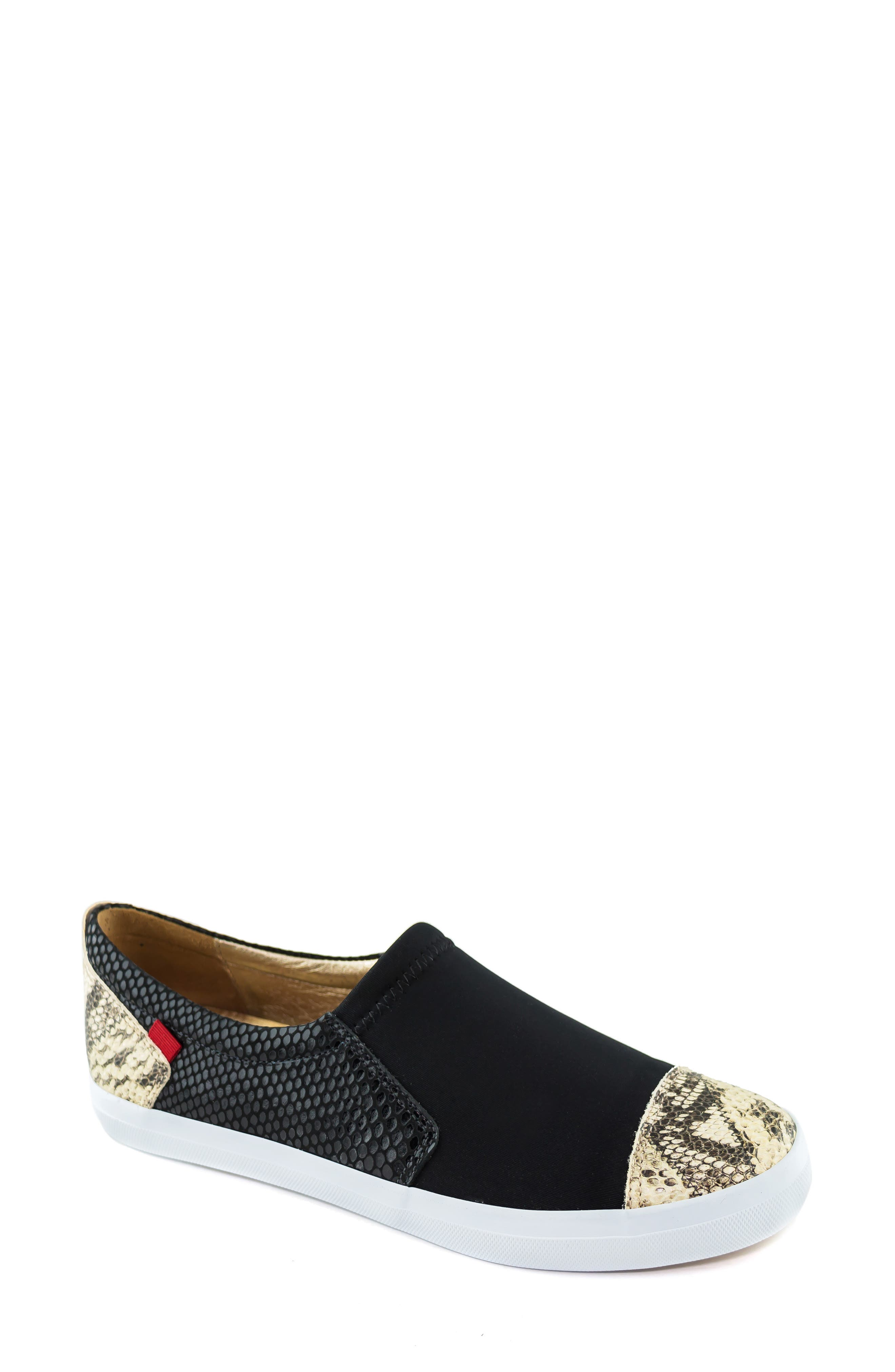 MARC JOSEPH NEW YORK Jay Street Sneaker, Main, color, BLACK PATCHWORK