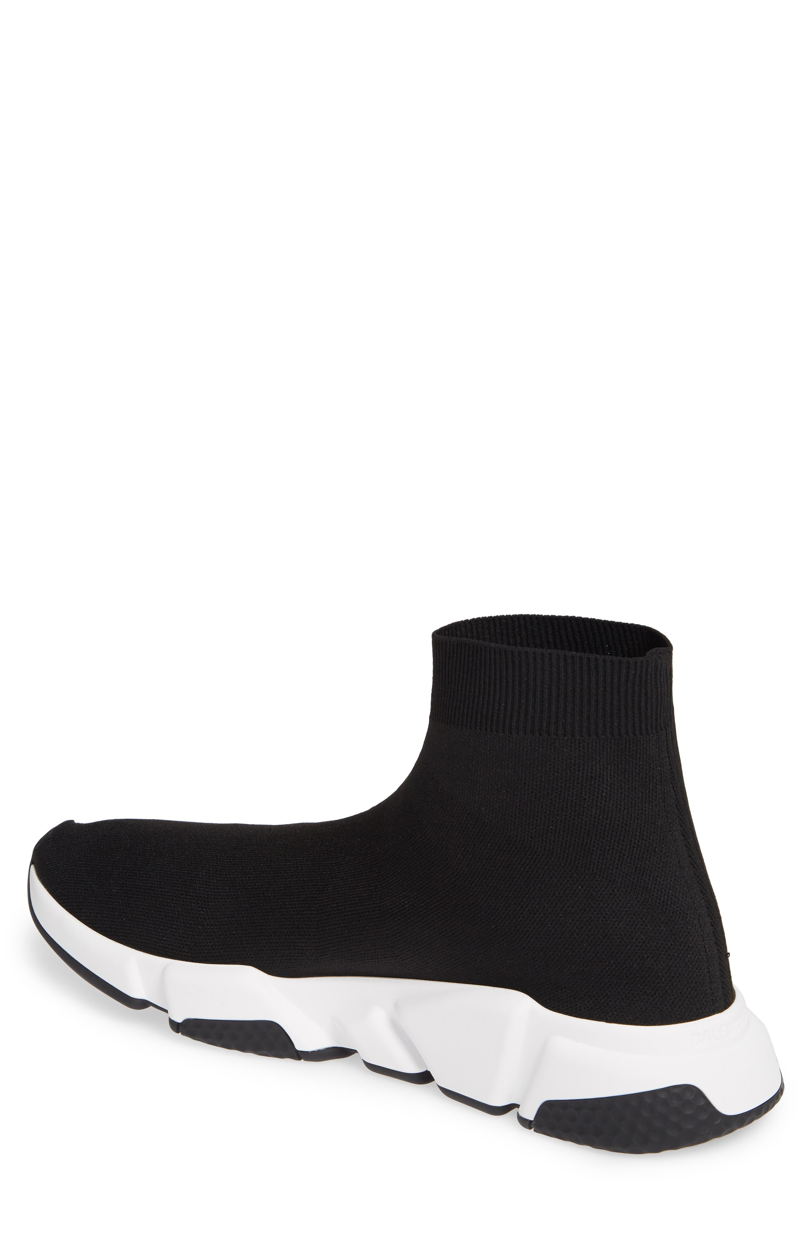 BALENCIAGA, Speed High Slip-On, Alternate thumbnail 2, color, NOIR