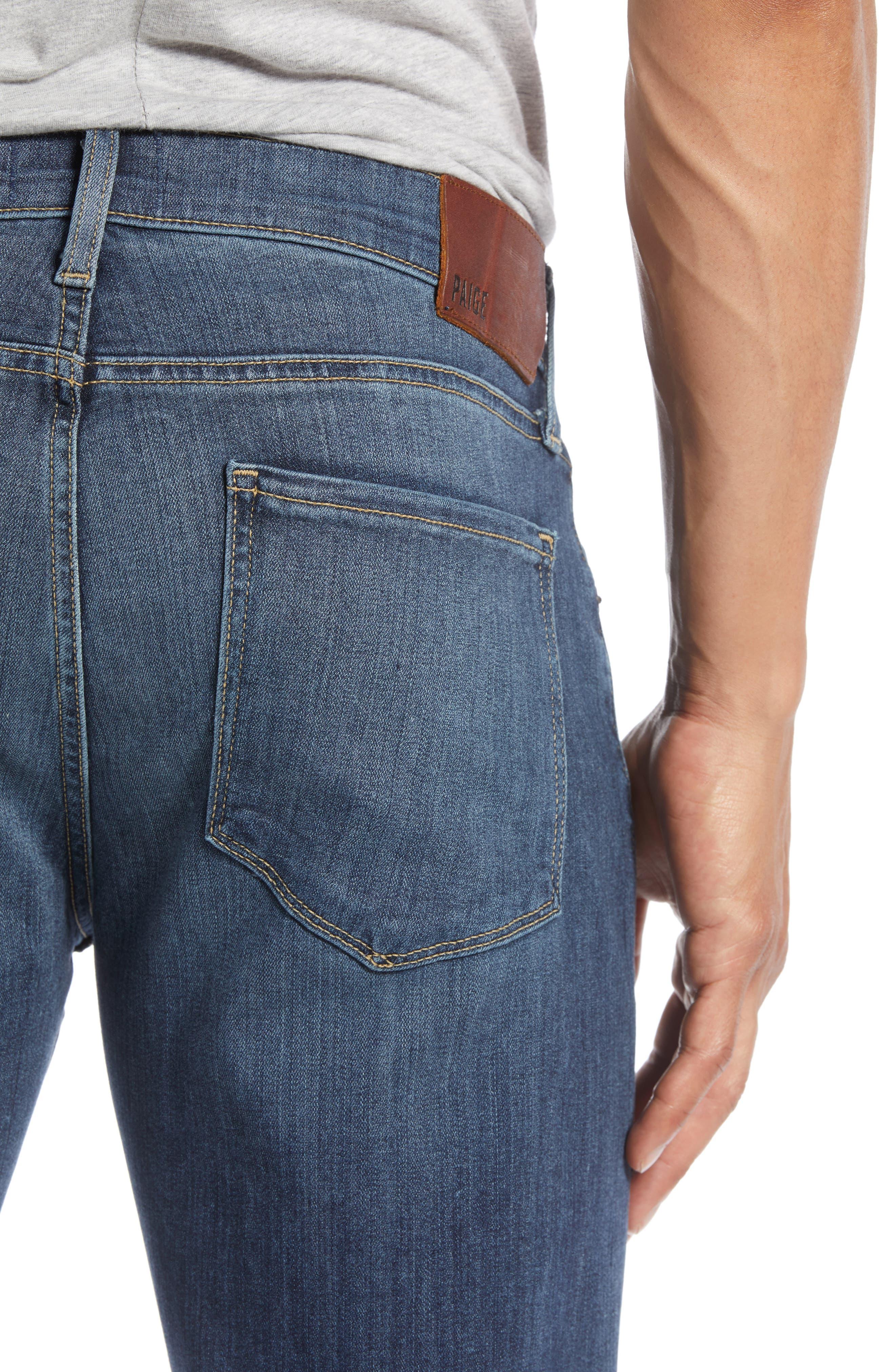PAIGE, Transcend - Federal Slim Straight Leg Jeans, Alternate thumbnail 6, color, BIRCH