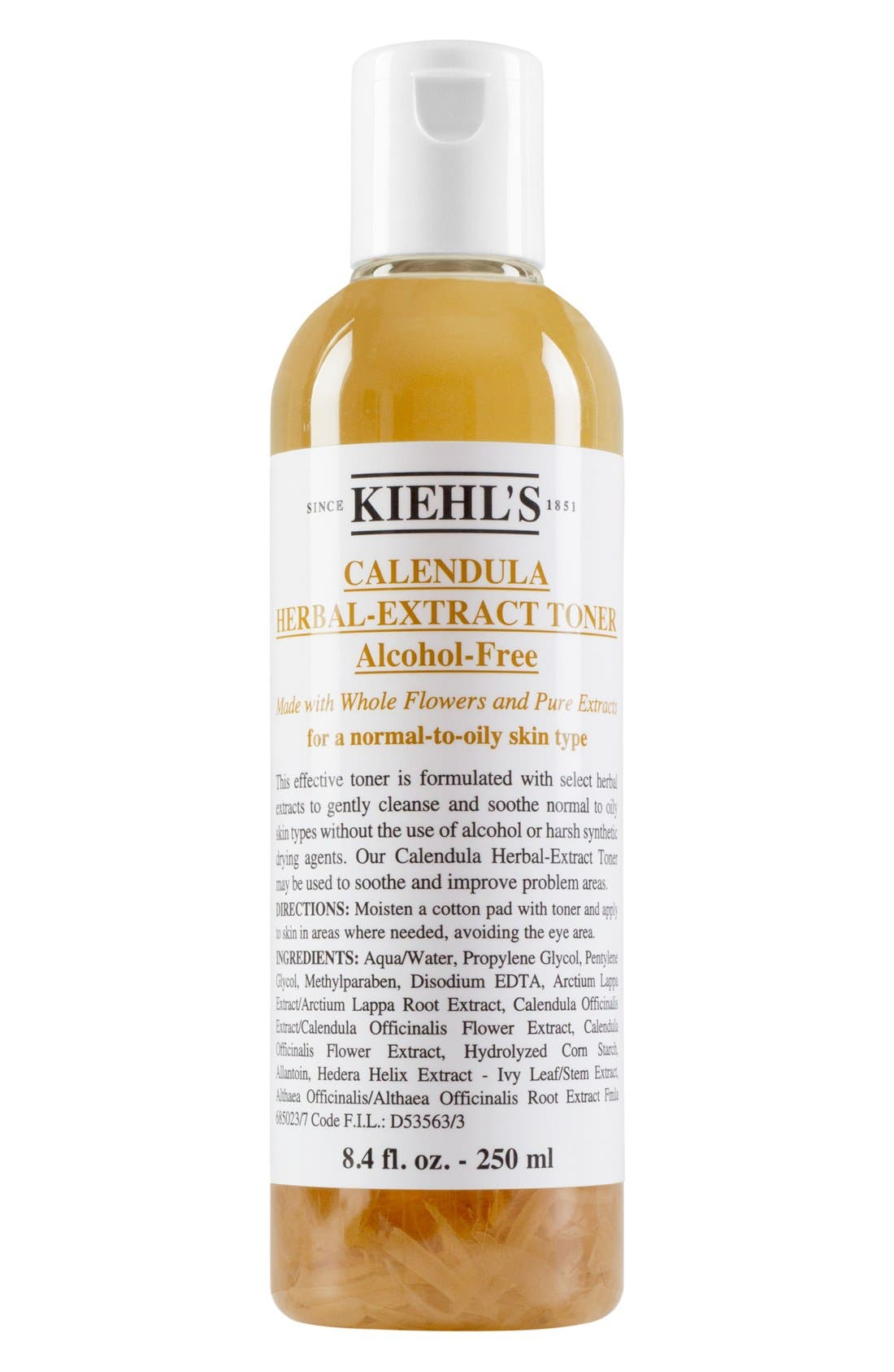 KIEHL'S SINCE 1851, Calendula Herbal Extract Alcohol Free Toner, Alternate thumbnail 4, color, NO COLOR