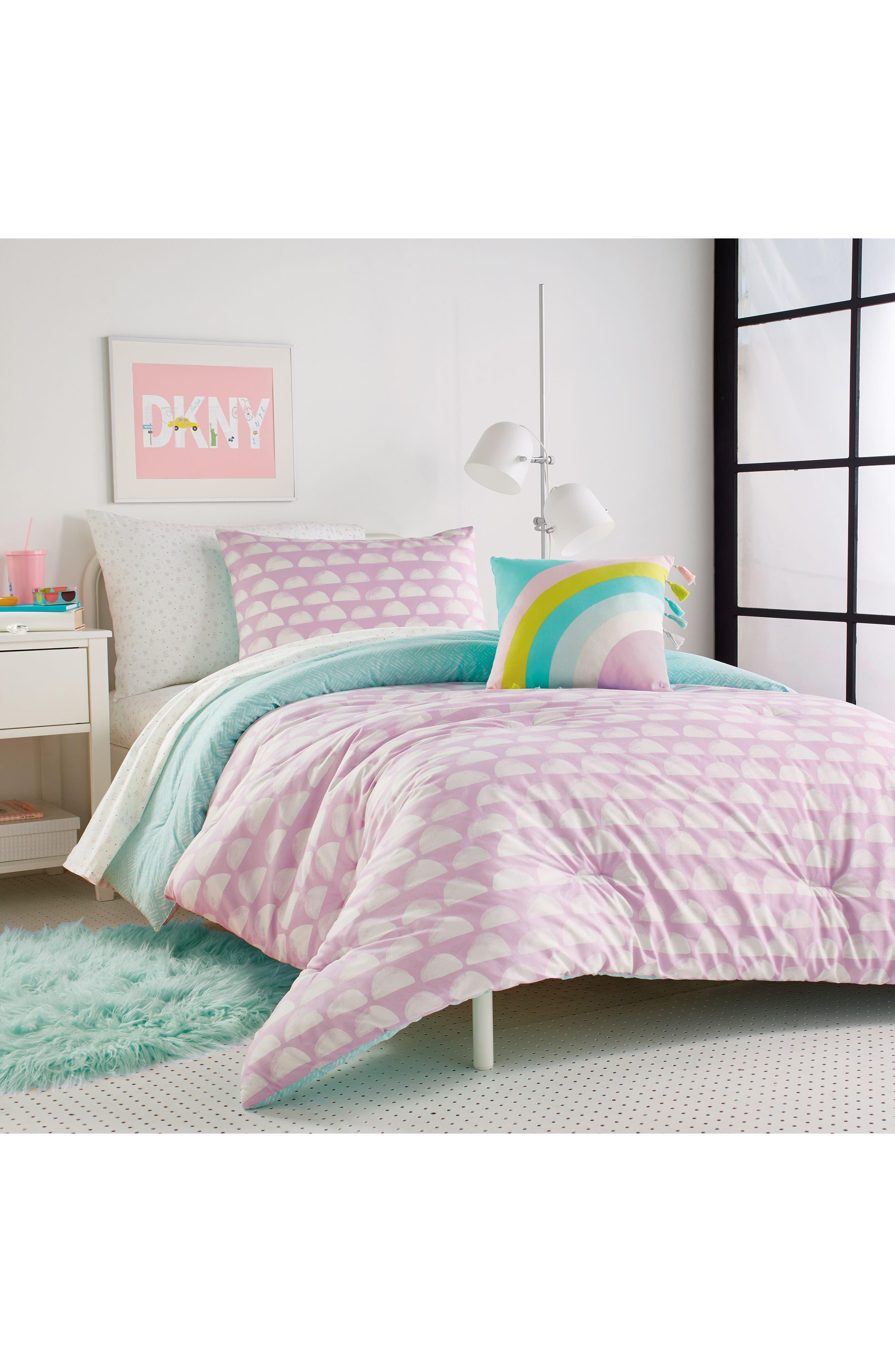 DKNY, Over the Moon Comforter, Sham & Accent Pillow Set, Alternate thumbnail 5, color, PURPLE