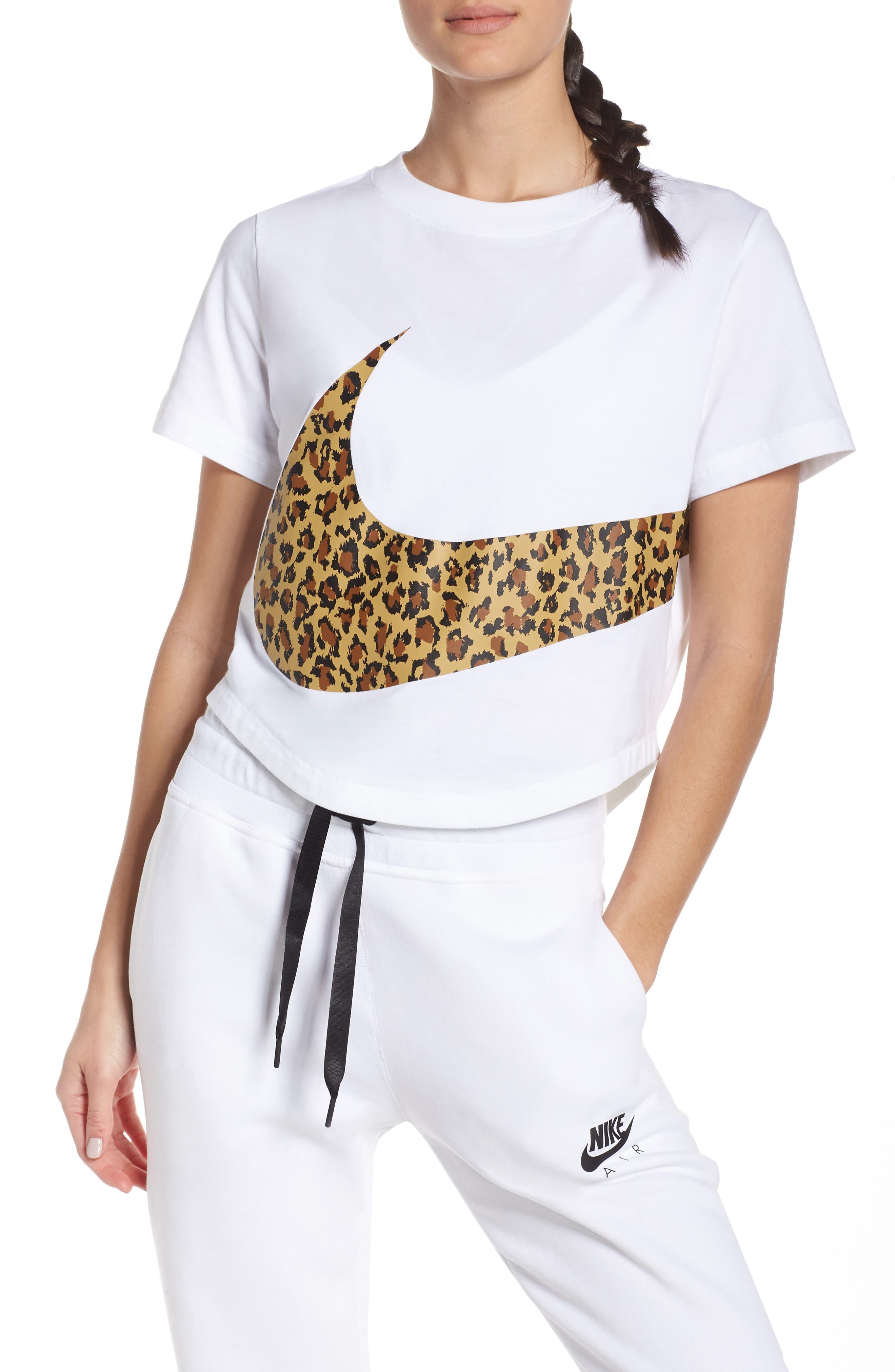 NIKE, Sportswear Women's Crop Top, Main thumbnail 1, color, WHITE