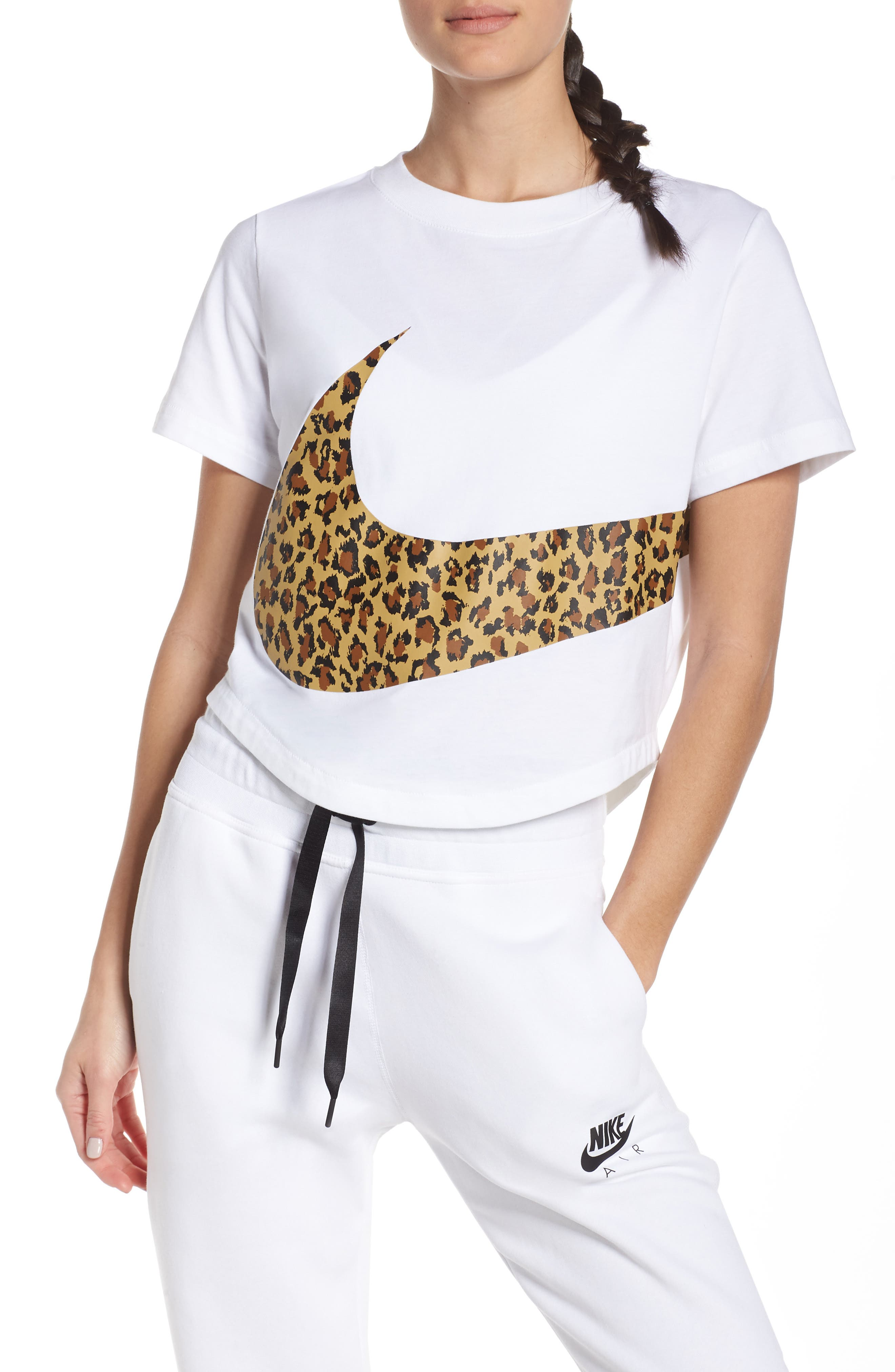 NIKE Sportswear Women's Crop Top, Main, color, WHITE