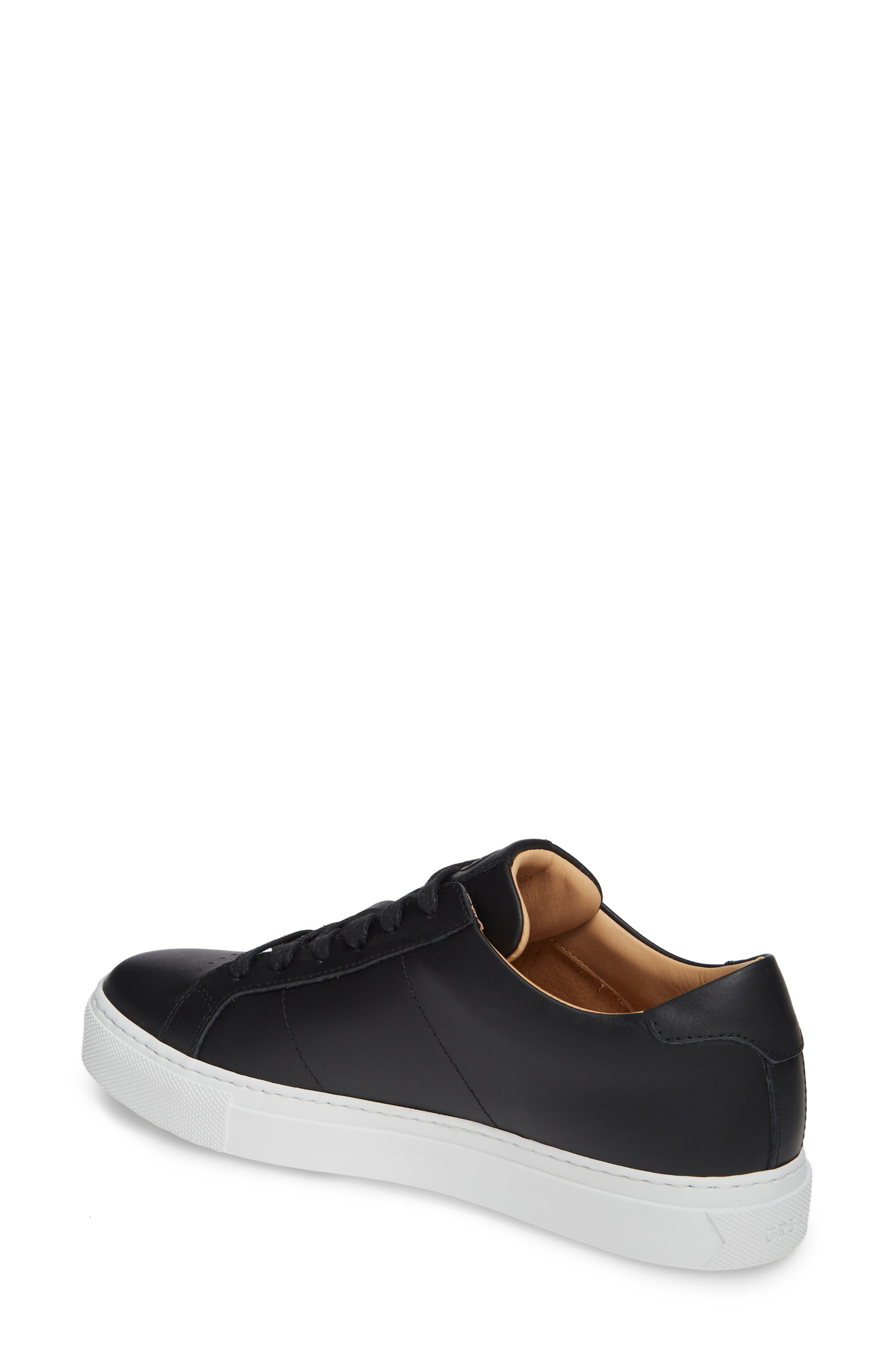GREATS, Royale Low Top Sneaker, Alternate thumbnail 2, color, BLACK LEATHER