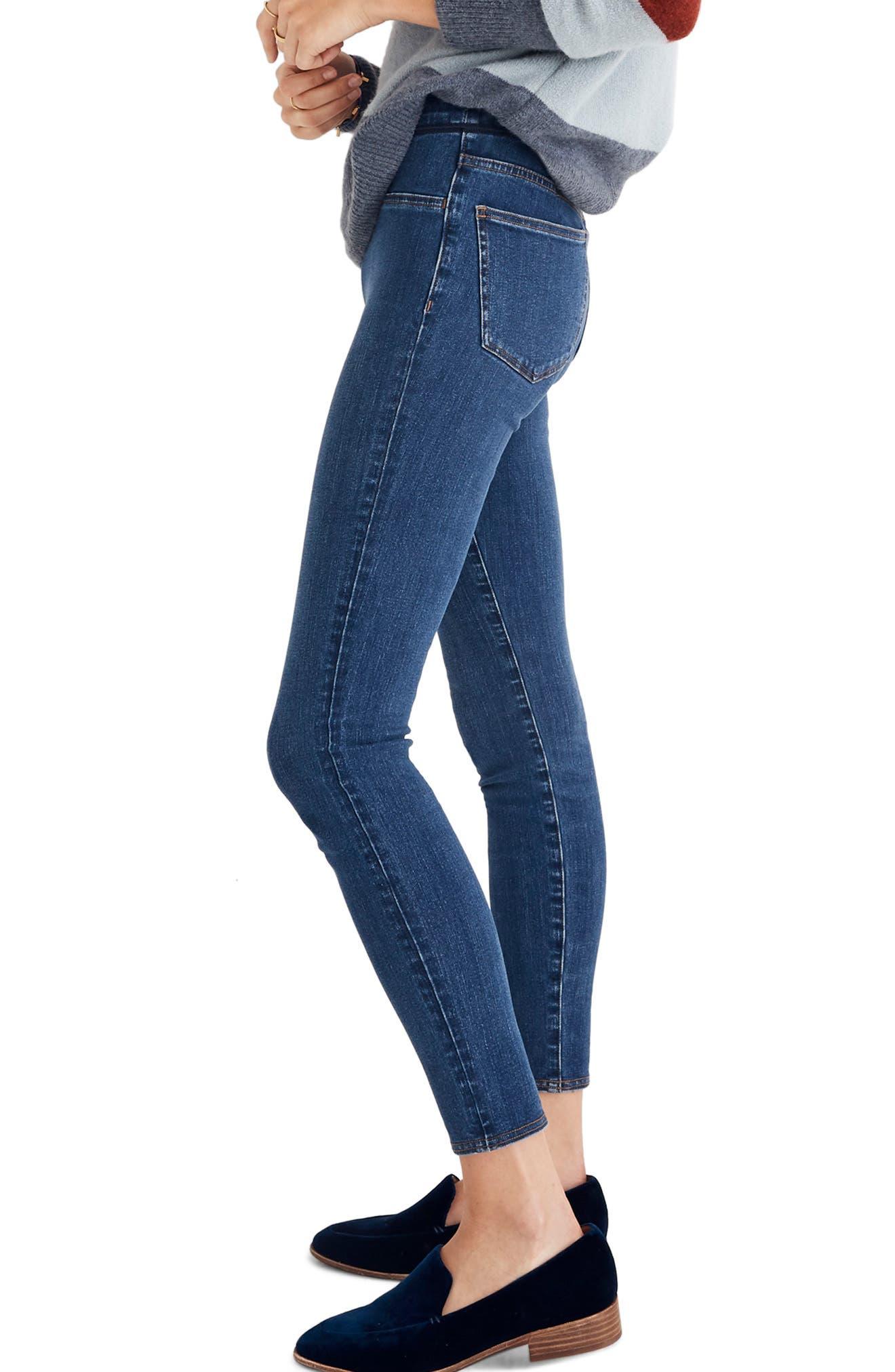 MADEWELL, Pull-On Jeans, Alternate thumbnail 4, color, FREEBURG