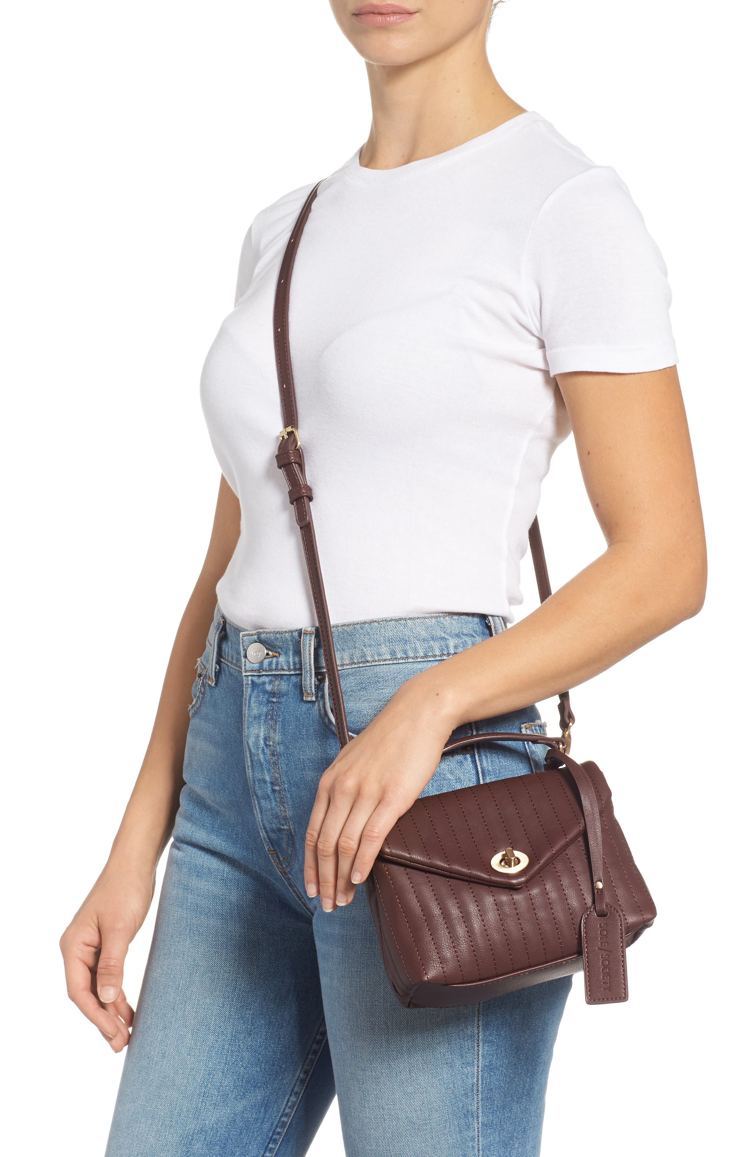SOLE SOCIETY, Urche Faux Leather Crossbody Bag, Alternate thumbnail 2, color, OXBLOOD
