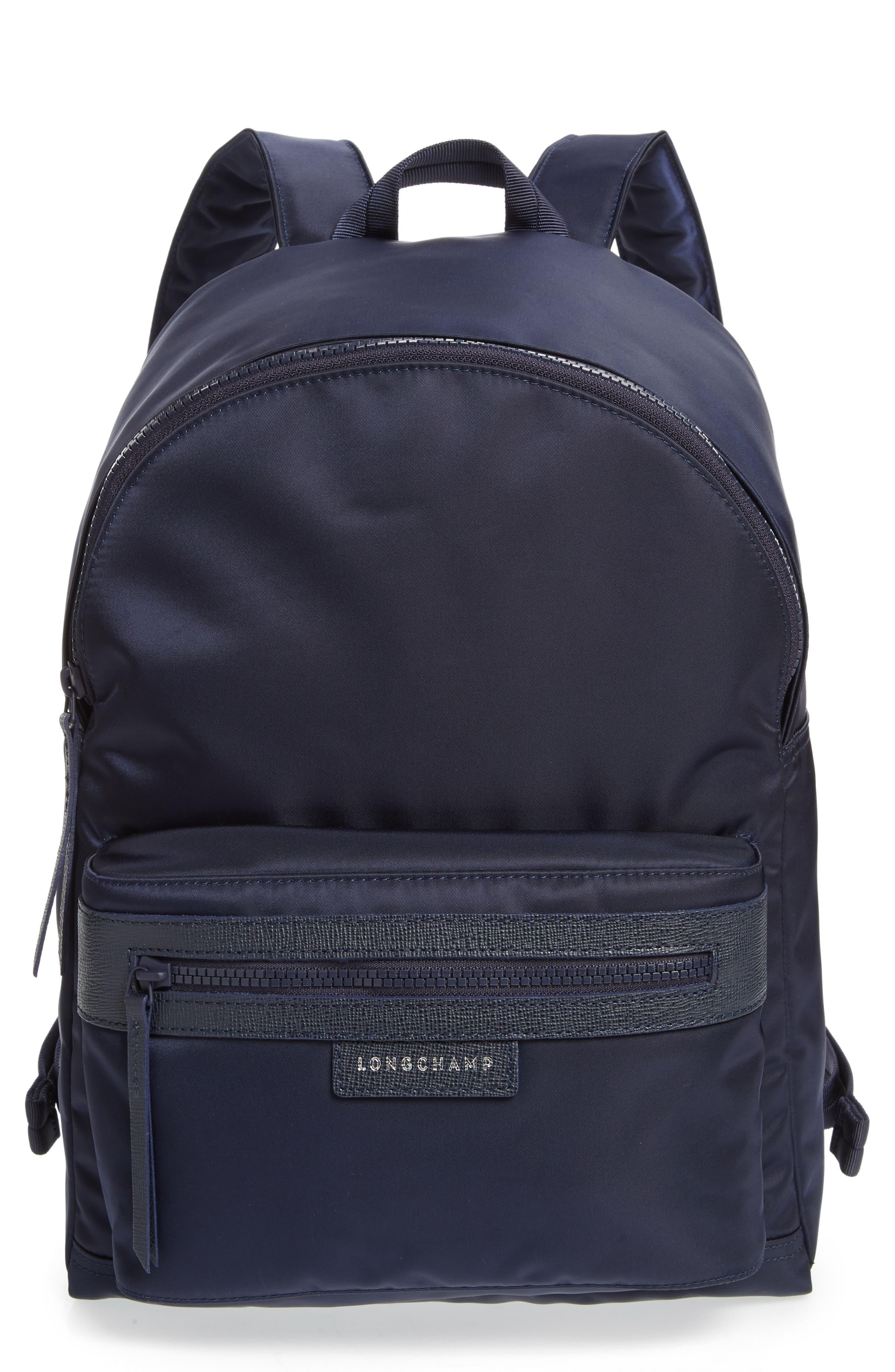 LONGCHAMP, 'Le Pliage Neo' Nylon Backpack, Main thumbnail 1, color, NAVY BLUE