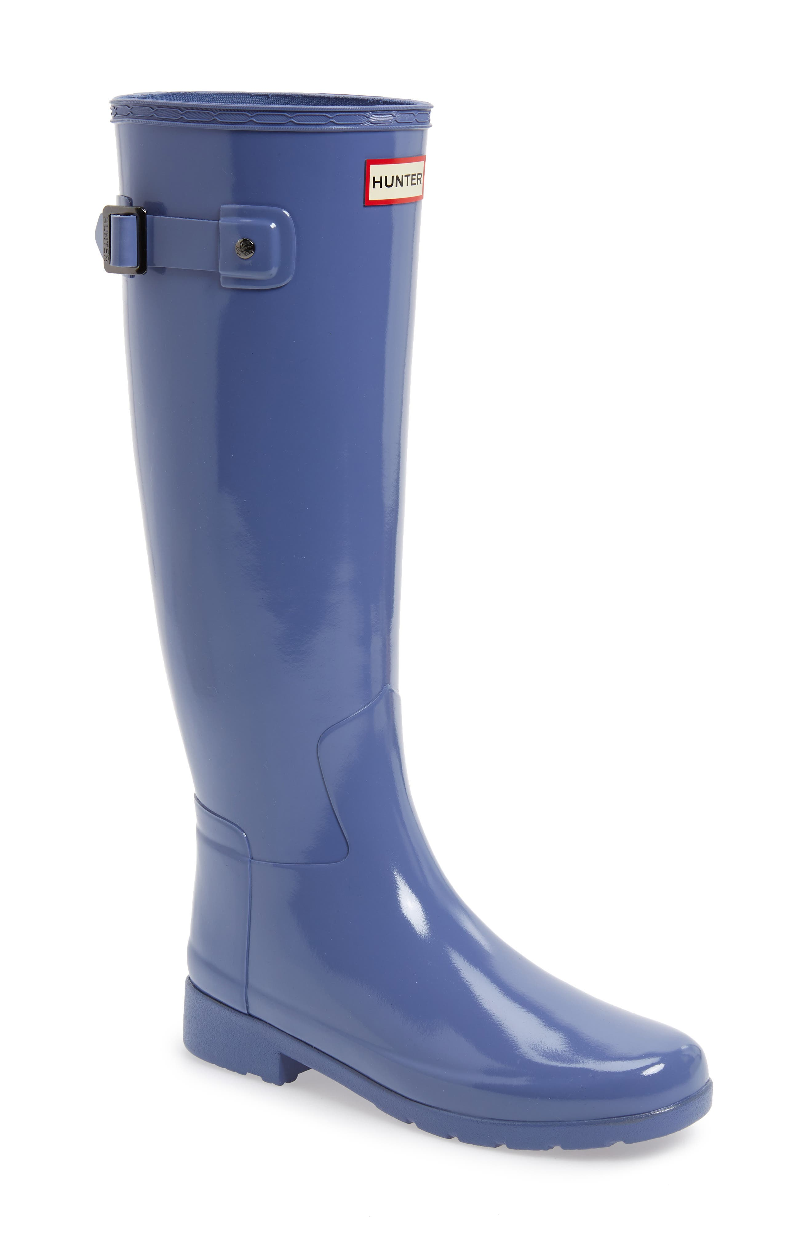 HUNTER, Original Refined High Gloss Waterproof Rain Boot, Main thumbnail 1, color, 475