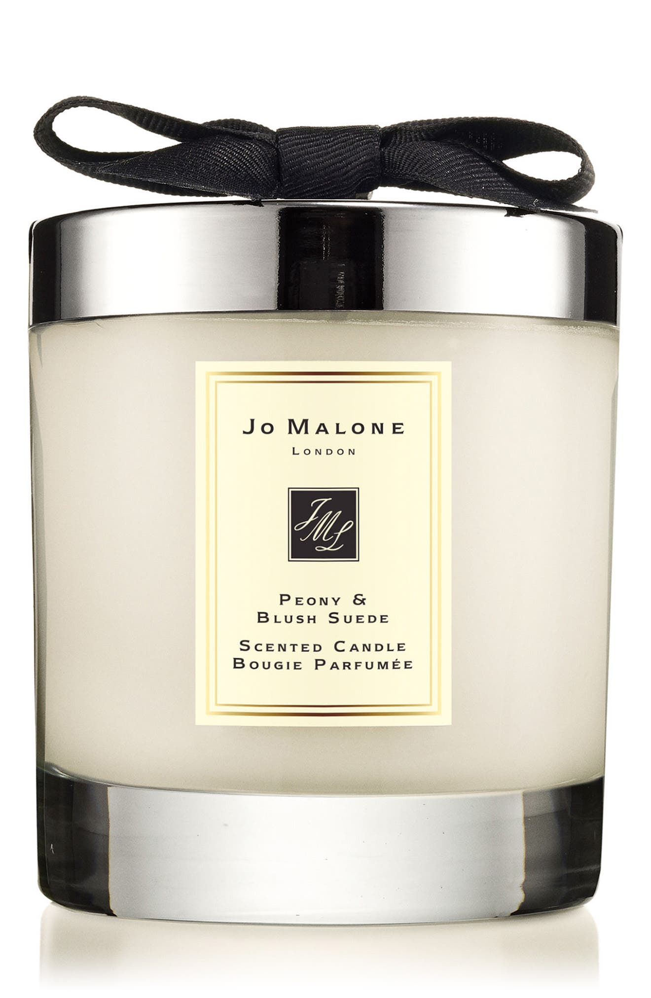 Peony & Blush Suede Scented Candle, Main, color, NO COLOR