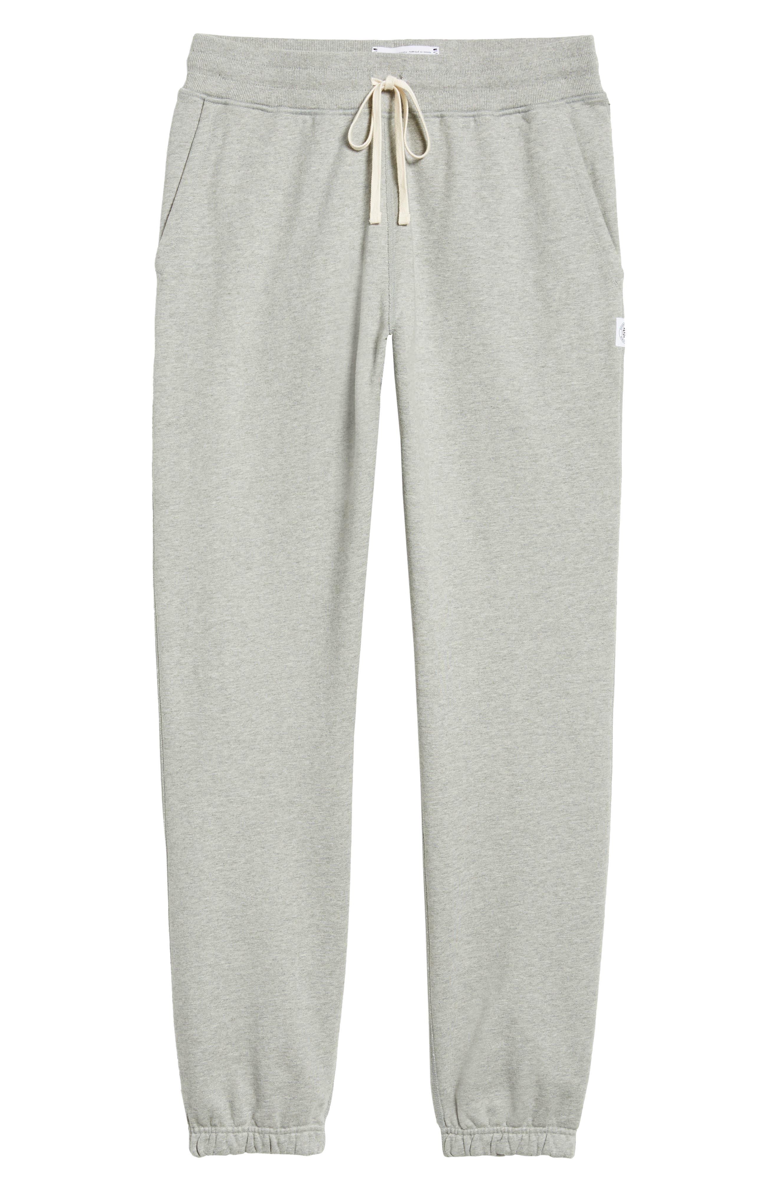 REIGNING CHAMP, Cotton Jogger Pants, Alternate thumbnail 7, color, HEATHER GREY