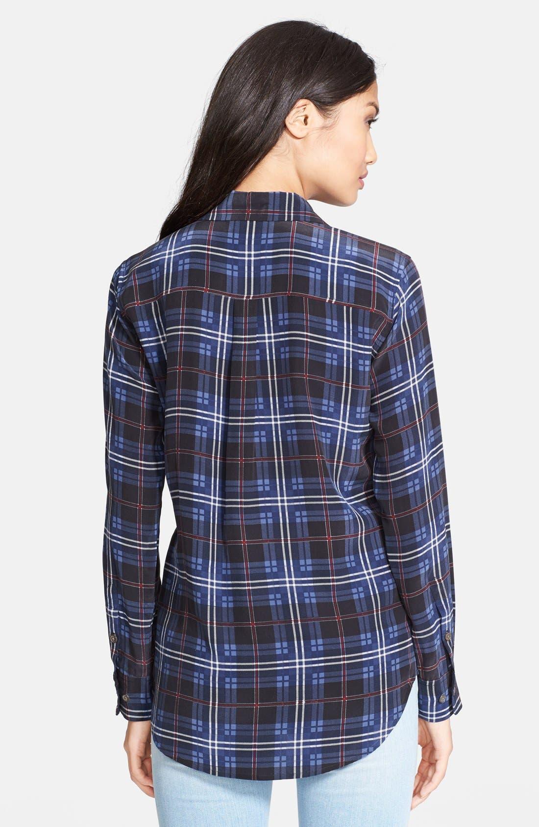 EQUIPMENT, 'Slim Signature' Silk Shirt, Alternate thumbnail 2, color, 400