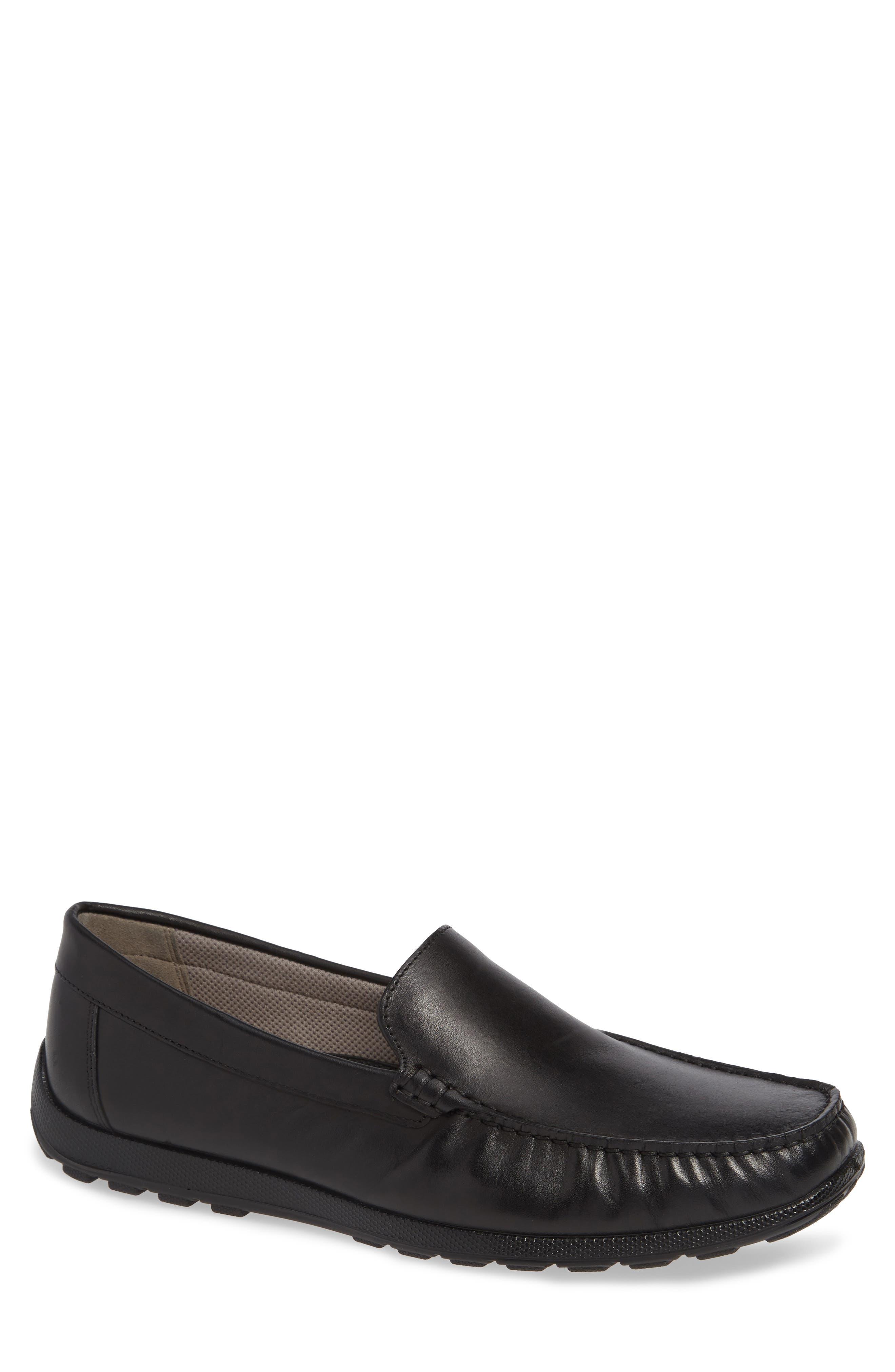 ECCO Reciprico Driving Shoe, Main, color, BLACK LEATHER